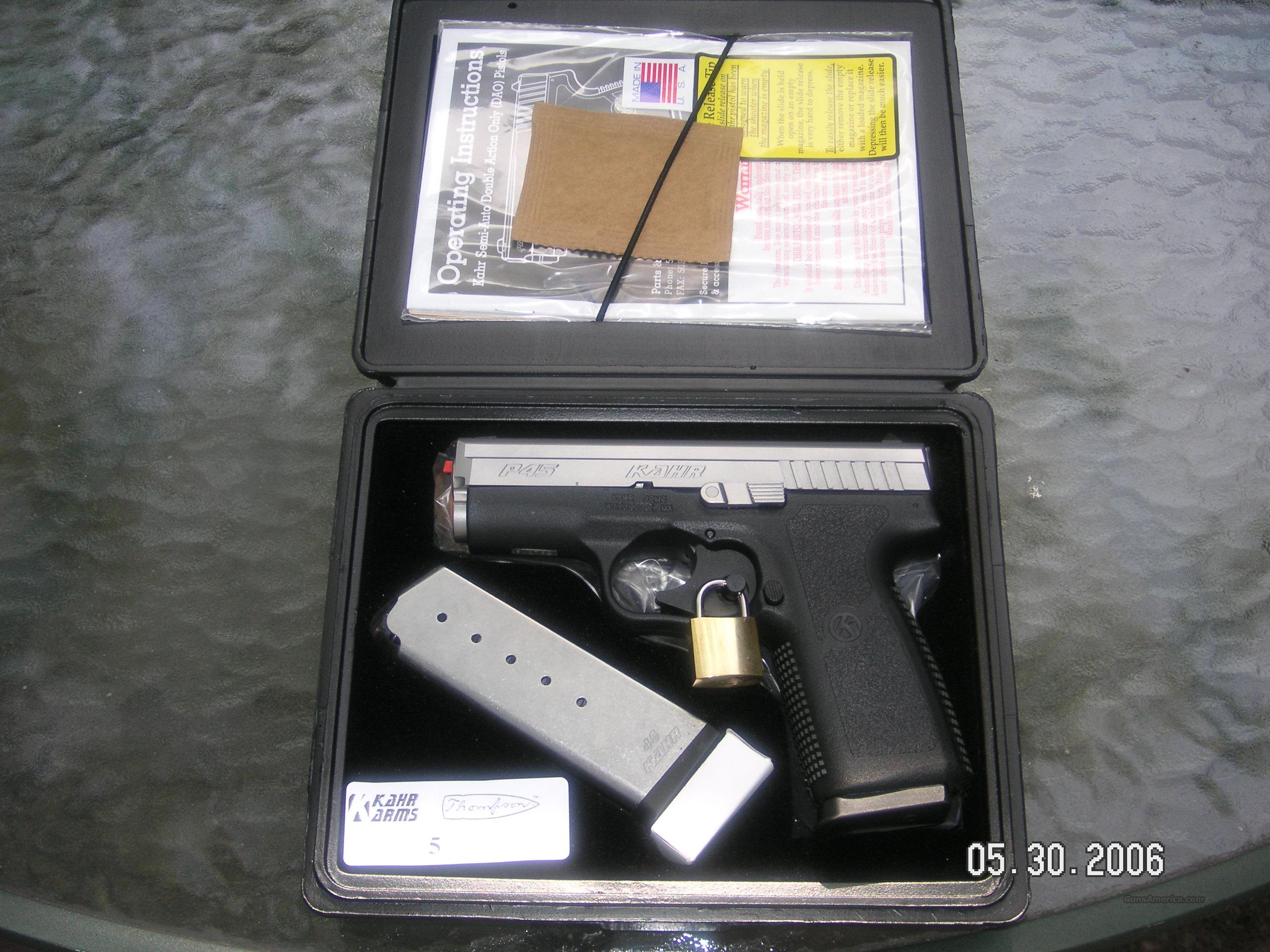 Kahr P45 New in box  Guns > Pistols > Kahr Pistols