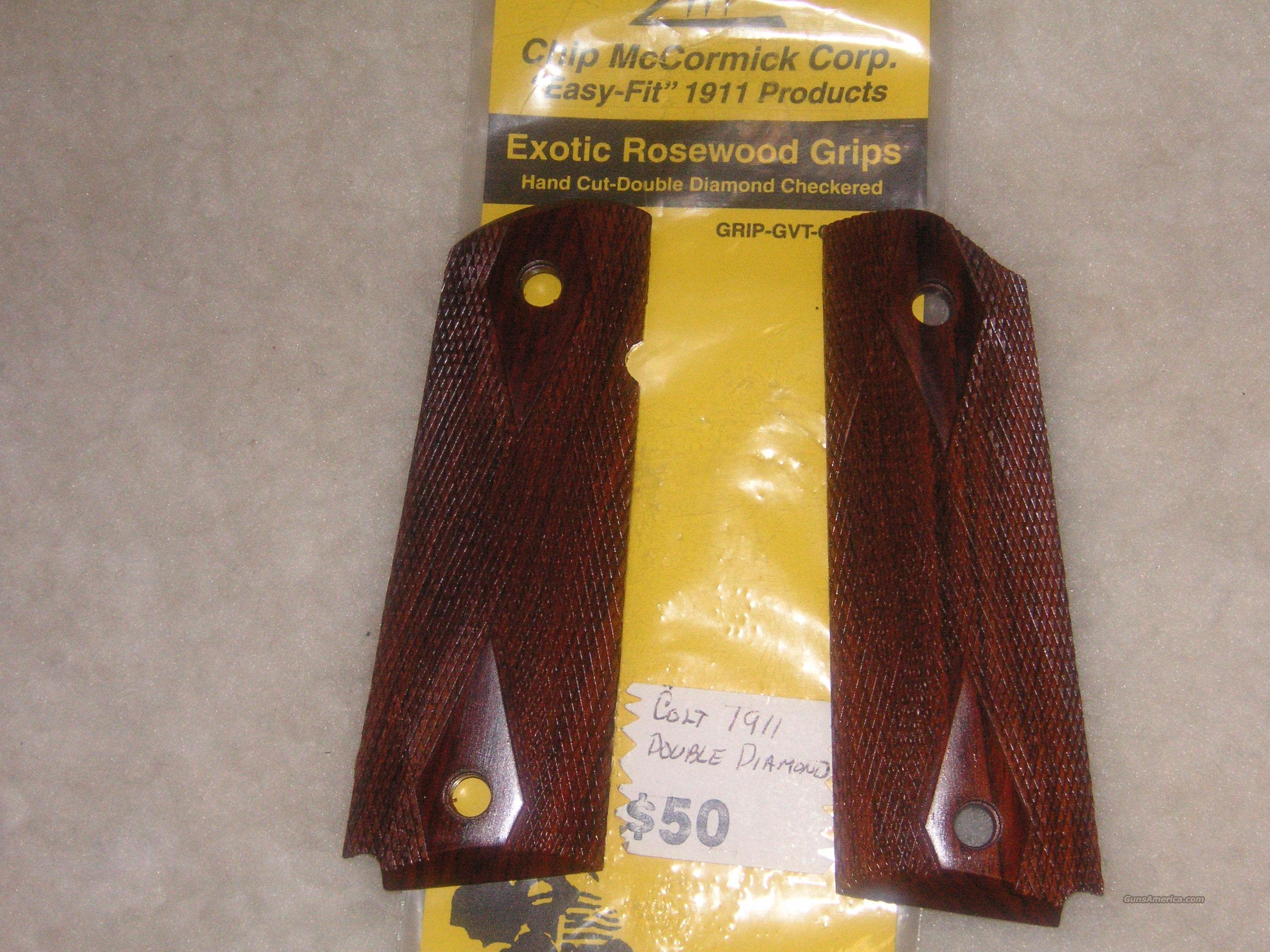 Chip McCormick Colt 1911 checkered rosewood grips  Non-Guns > Gunstocks, Grips & Wood