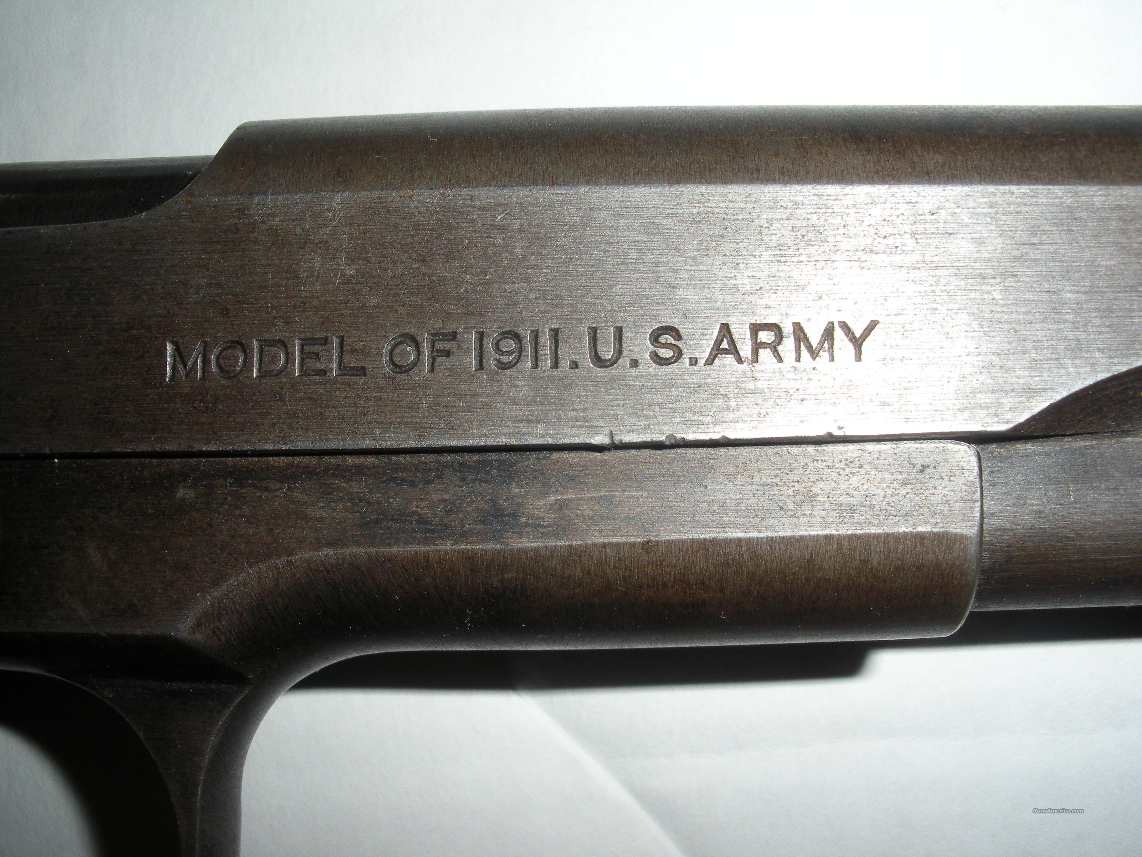 Colt Model of 1911 US Army .45 ACP  Guns > Pistols > Colt Automatic Pistols (1911 & Var)