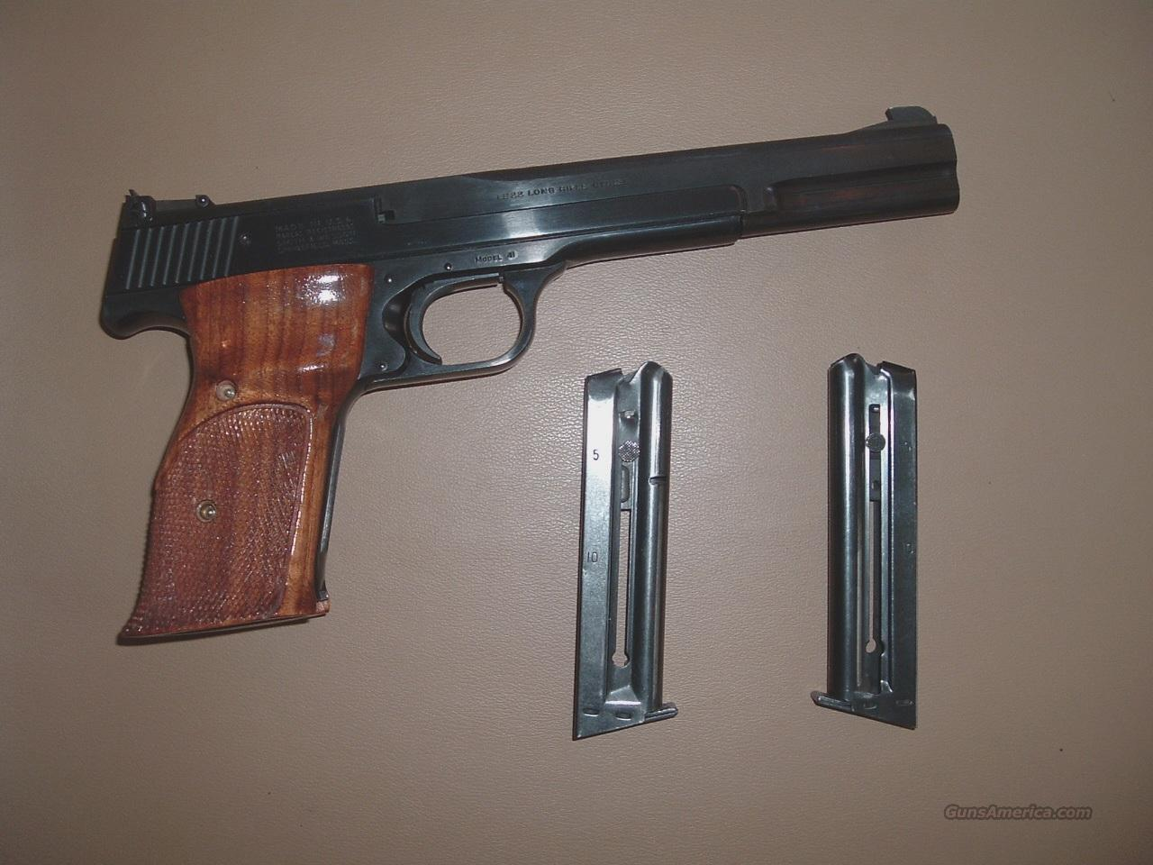 "Smith & Wesson Model 41, A Prefix, 7"" Bbl.  Guns > Pistols > Smith & Wesson Pistols - Autos > .22 Autos"