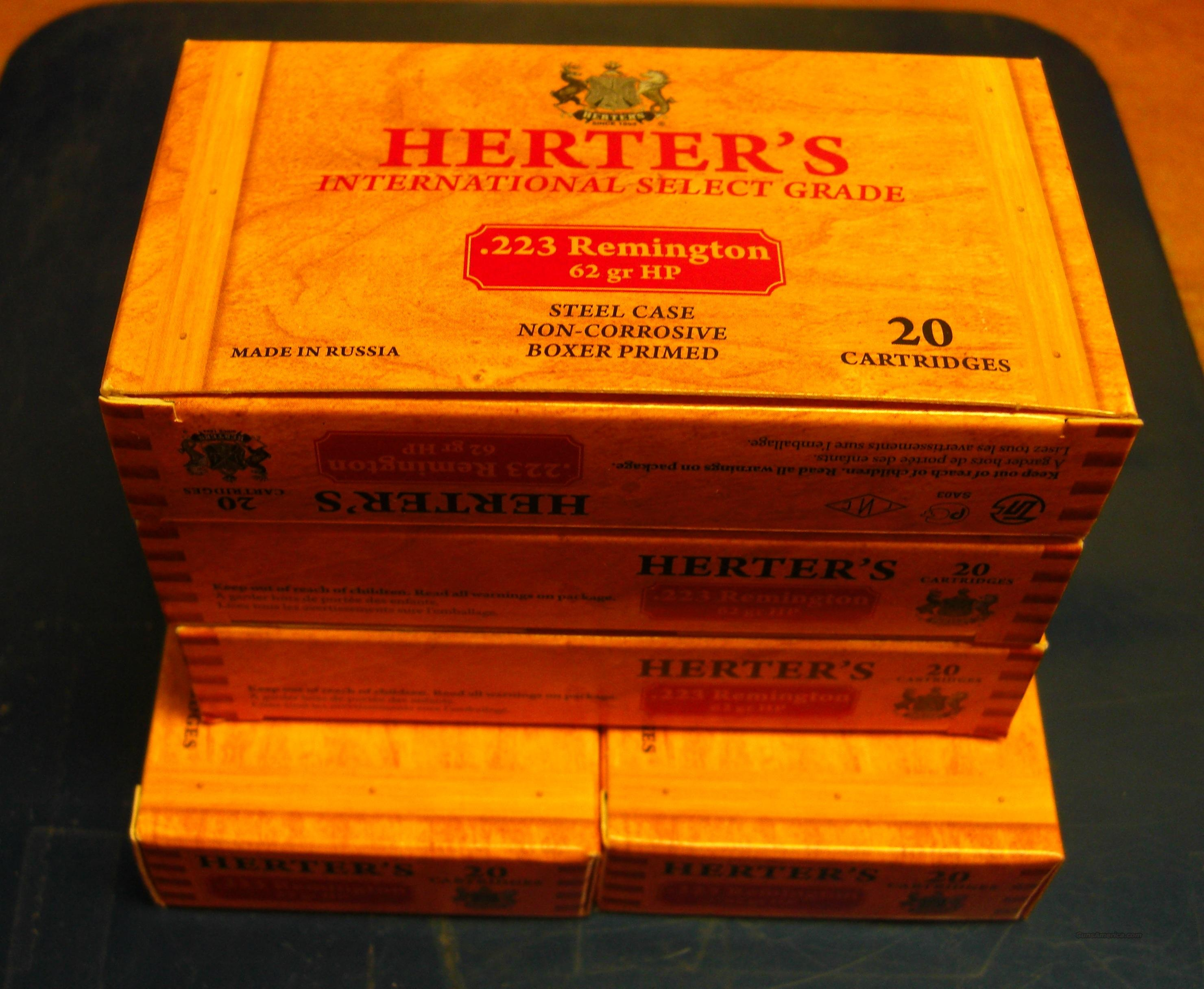 100 rds. of .223 Herters Select Grade, 62 gr. ammo  Non-Guns > Ammunition
