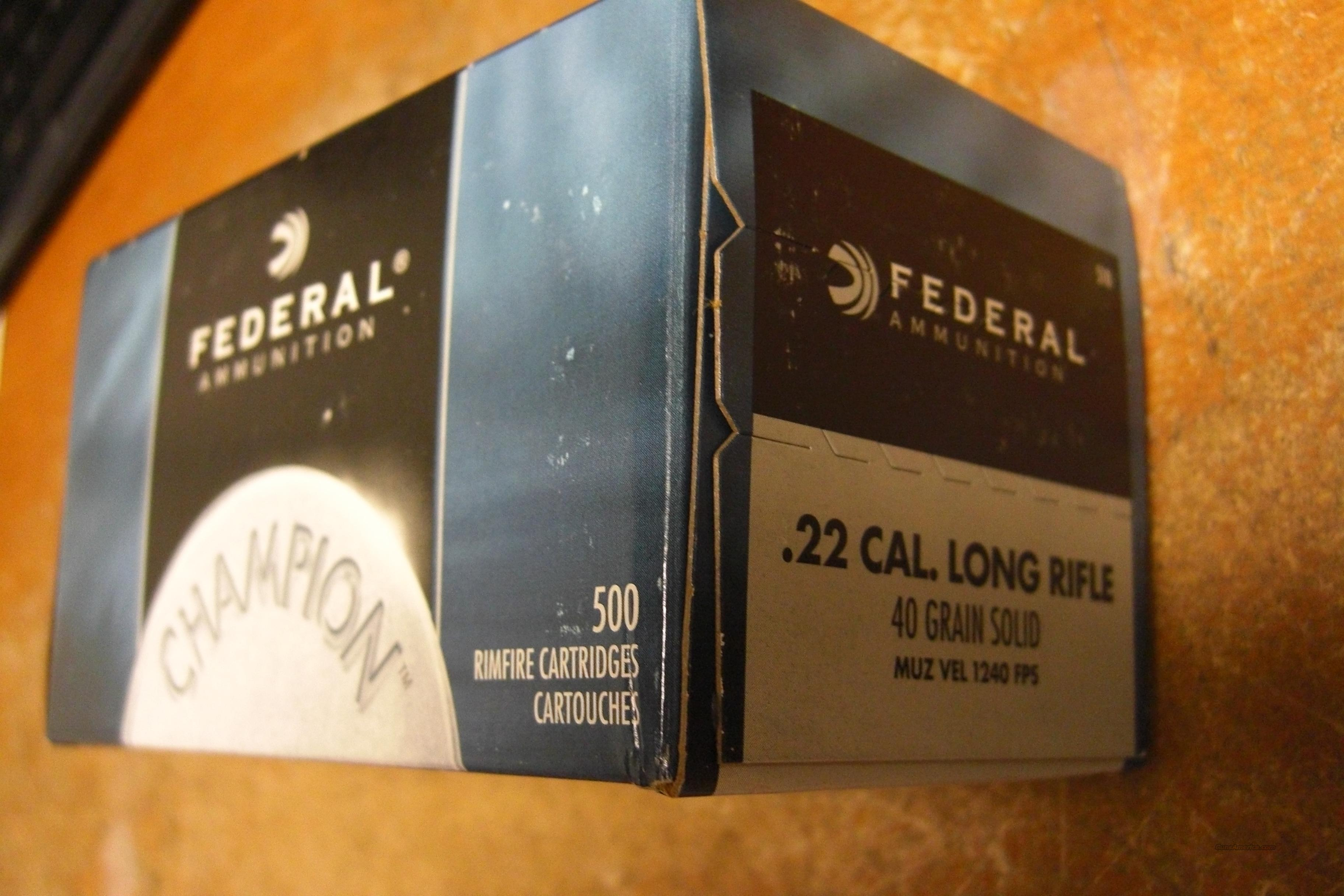 500 rounds .22 lr, Federal, free shipping  Non-Guns > Ammunition