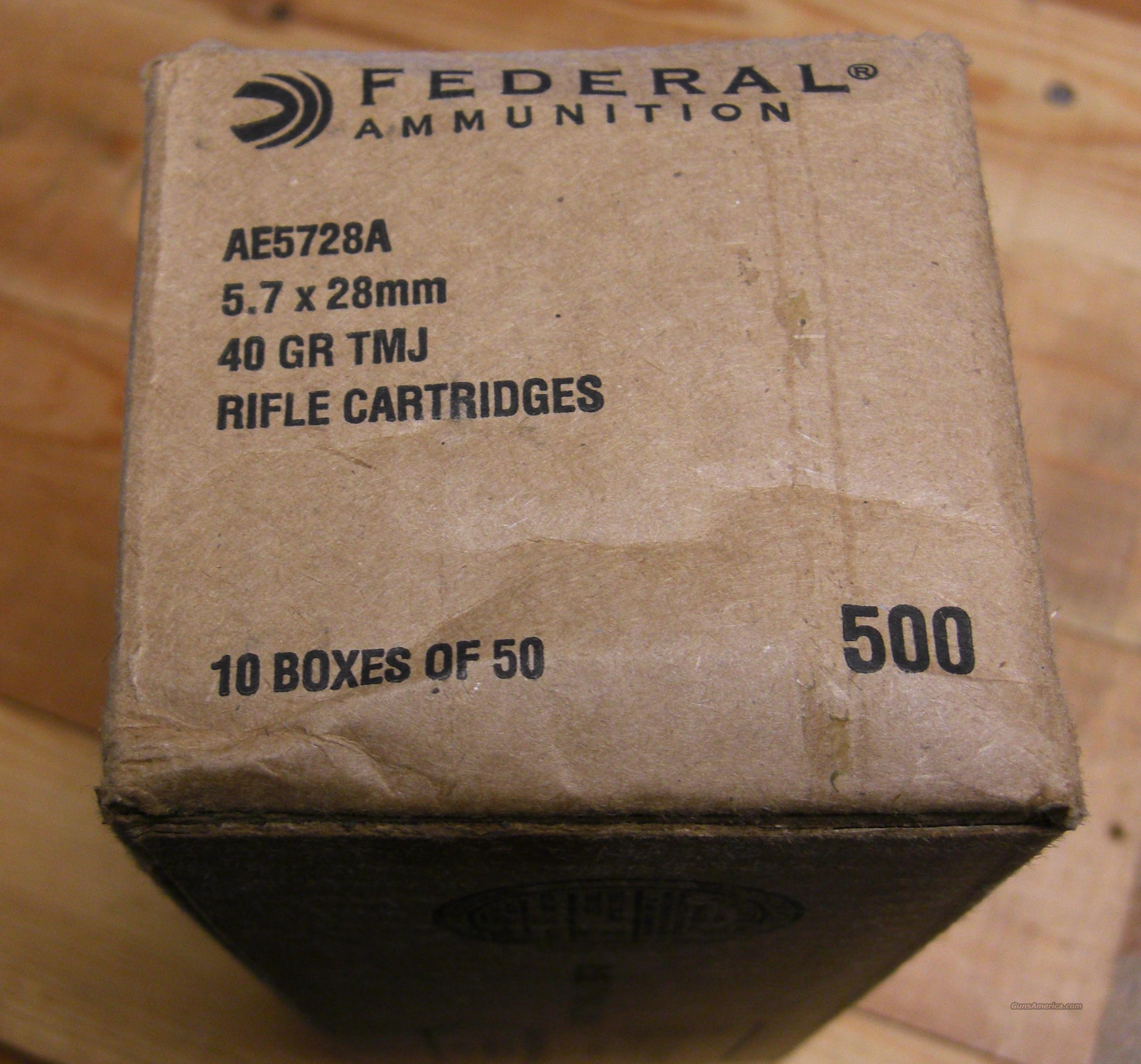 500 rounds 5.7x28mm Federal/American Eagle  Non-Guns > Ammunition