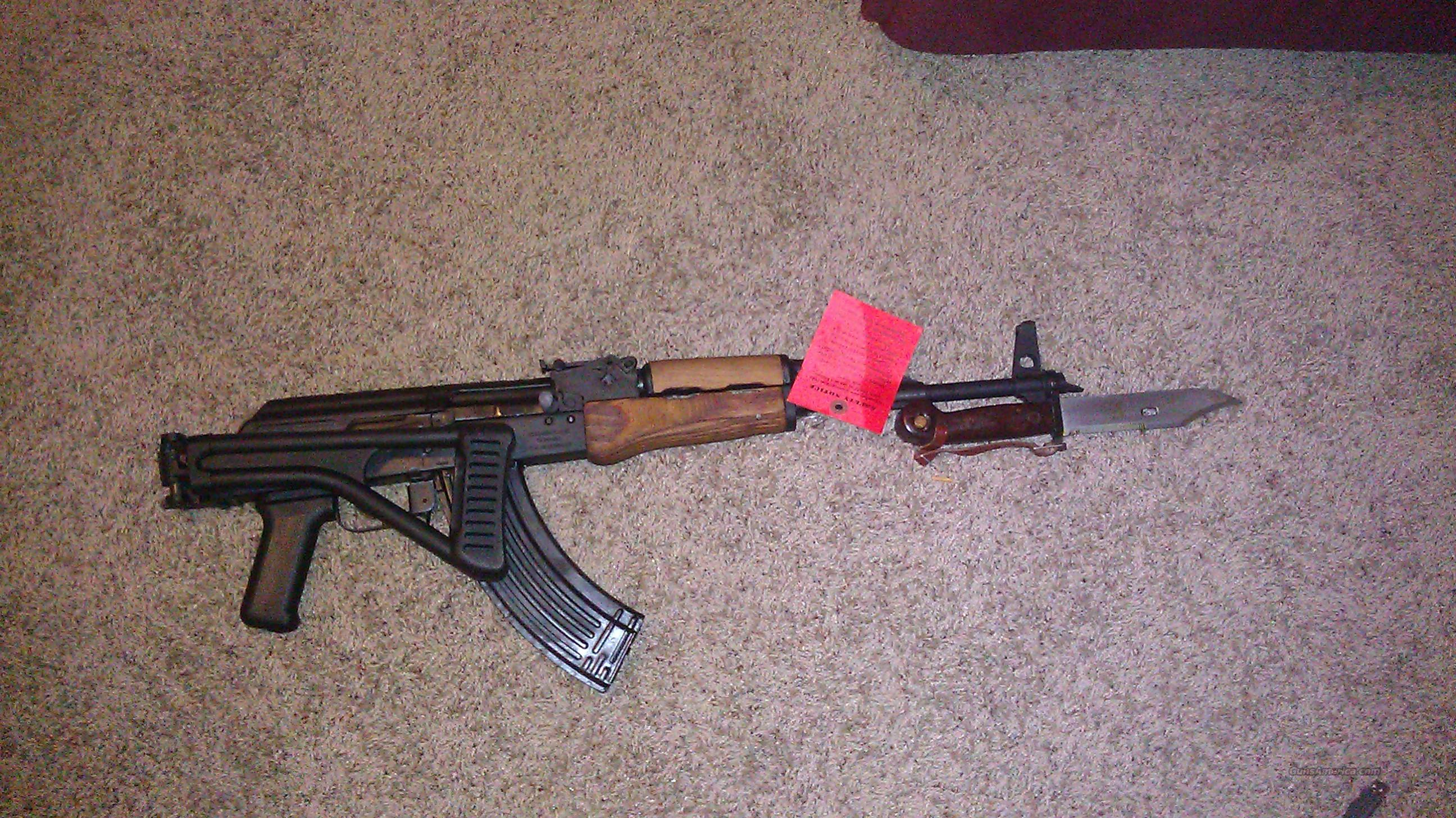WASR-10 Side Folder w/ 2 mags bayonet AK47 AK-47  Guns > Rifles > AK-47 Rifles (and copies) > Folding Stock