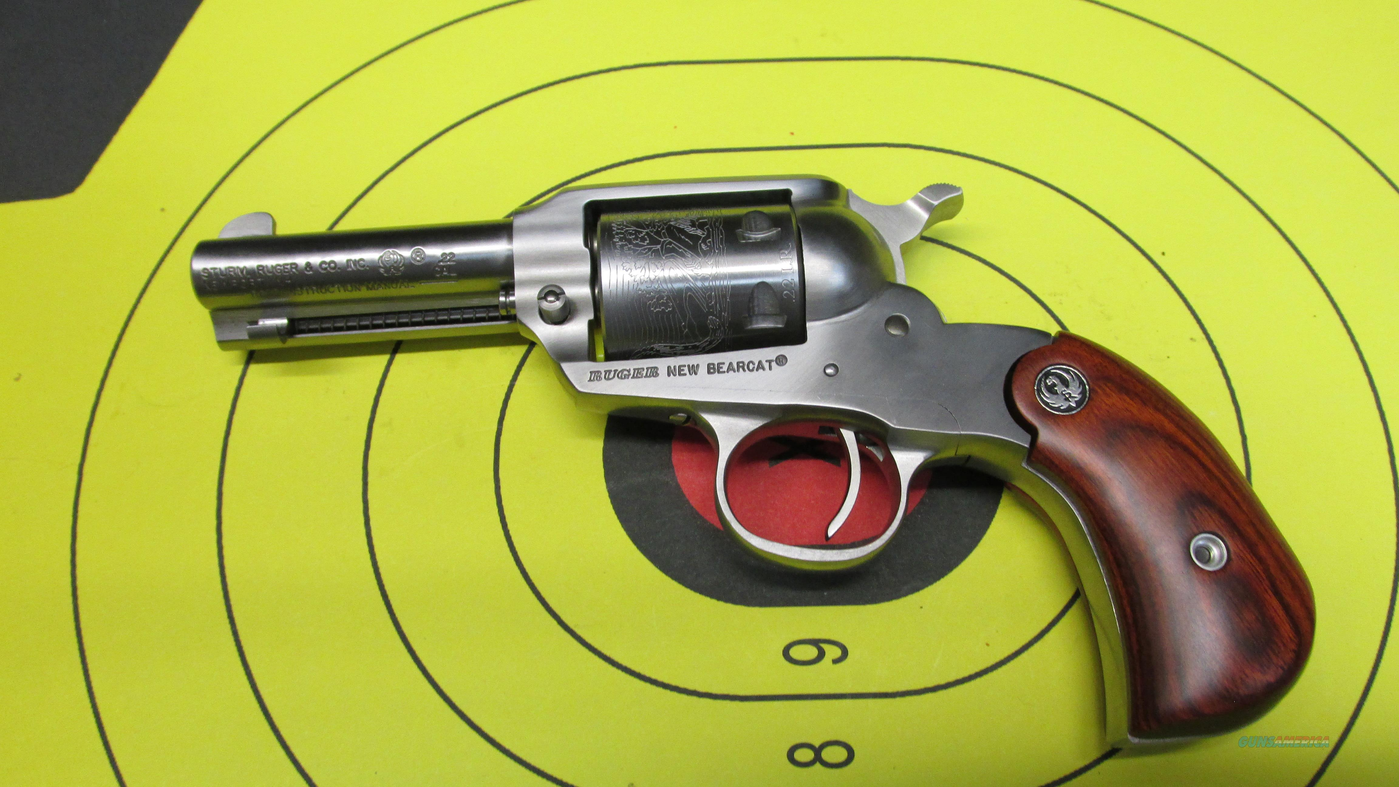 "RUGER NEW BEARCAT 22LR 6 SHOT SINGLE ACTION REVOLVER WITH 3"" BARREL  Guns > Pistols > Ruger Single Action Revolvers > Bearcat"