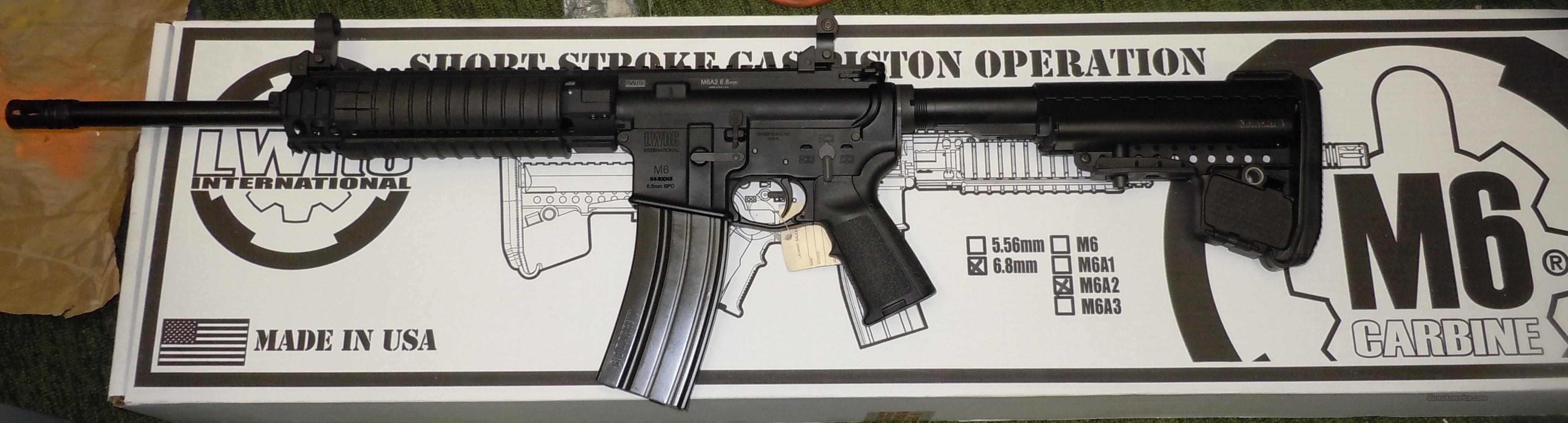 LWRC M6A2 6.8MM SHORT STROKE PISTON RIFLE  Guns > Rifles > AR-15 Rifles - Small Manufacturers > Complete Rifle