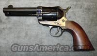 "CIMARRON (UBERTI) P FRONTIER SIX SHOOTER 45 COLT REVOLVER W/ 4-3/4"" BARREL, BONE CHARCOAL AND LEATHER CASE COLORS  Guns > Pistols > Cimmaron Pistols"