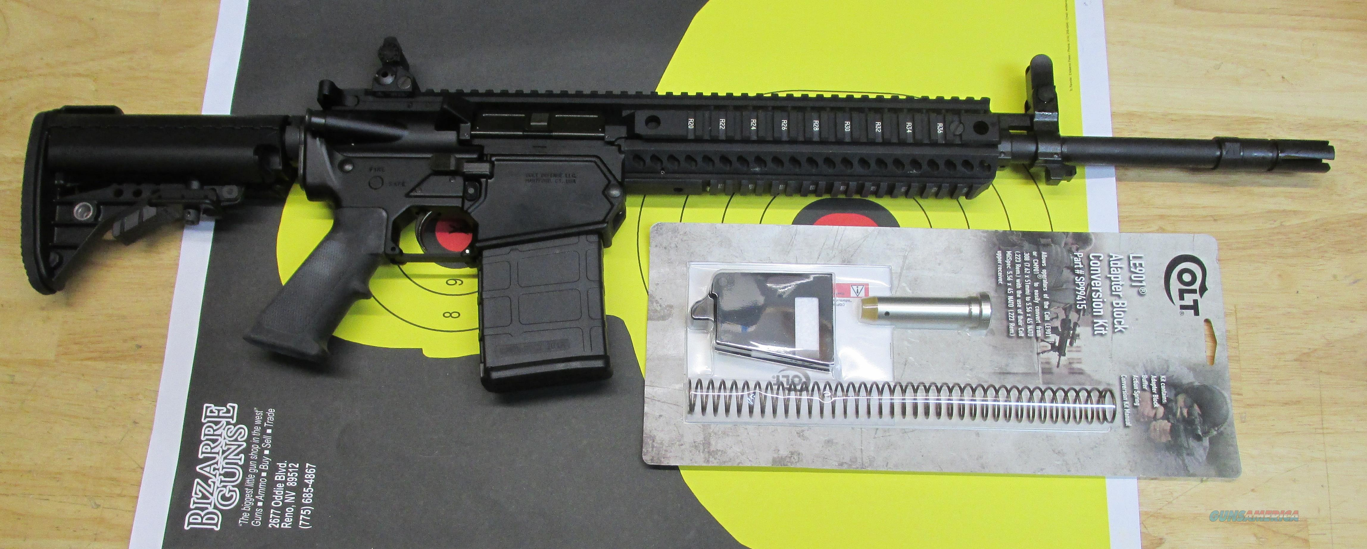 "COLT LE901 .308 WIN RIFLE WITH 5.56 NATO CONVERSION KIT, 20 RD MAGAZINE, 16"" BARREL  Guns > Rifles > Colt Military/Tactical Rifles"