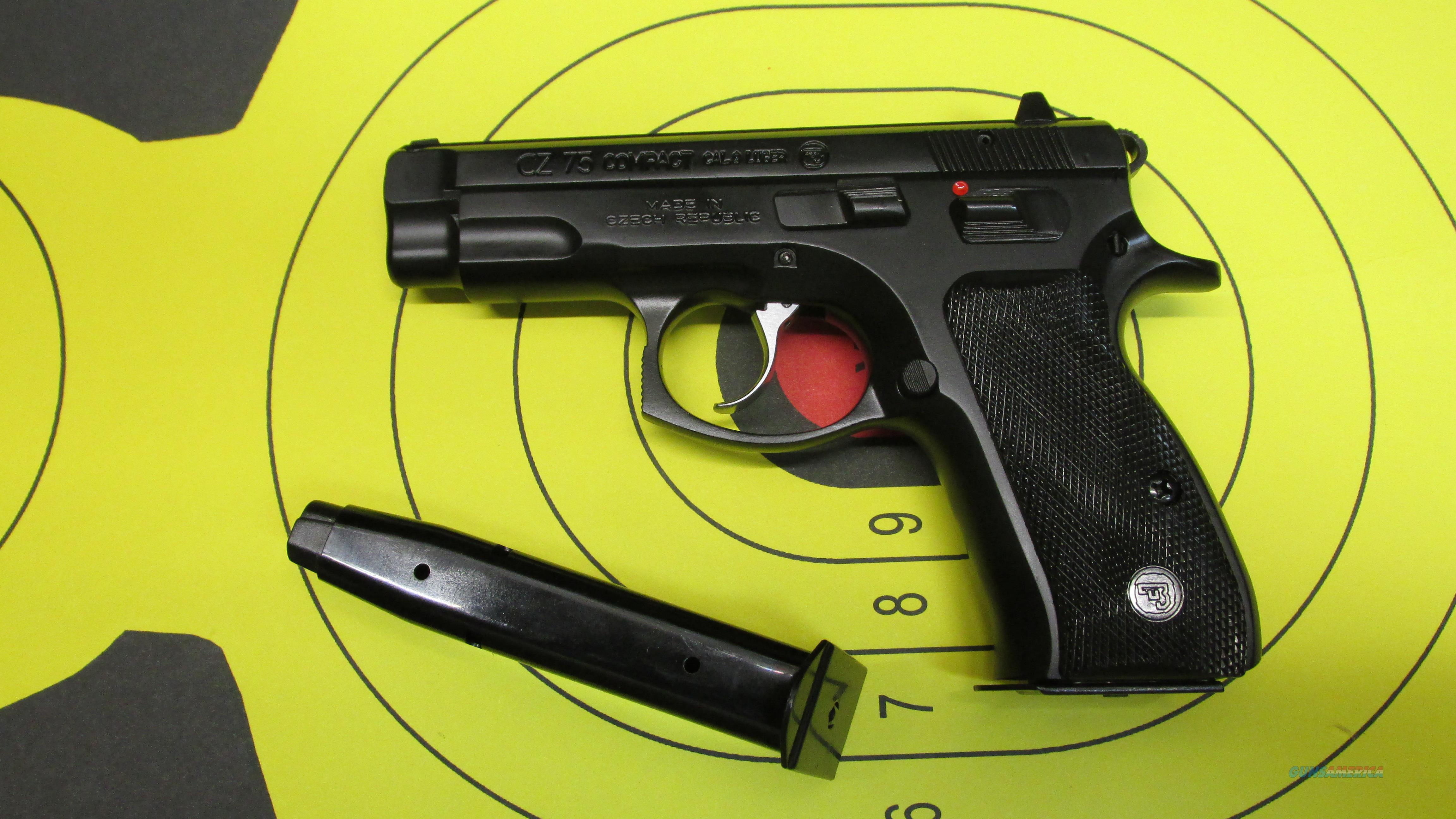 "CZ-USA 75 COMPACT 9MM PISTOL BLACK, (2) 14 ROUND MAGAZINES, 3.5"" BARREL  Guns > Pistols > CZ Pistols"