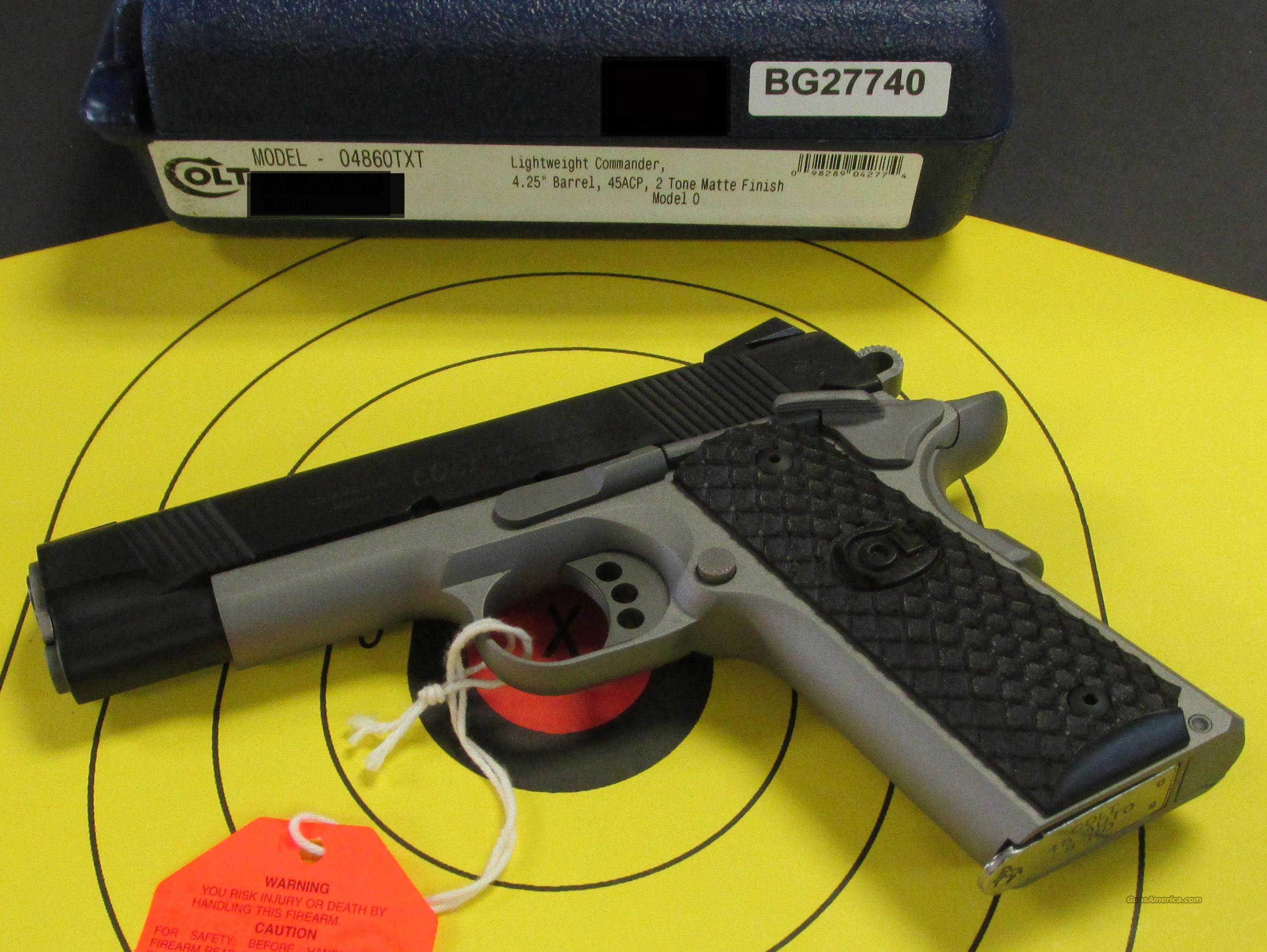 COLT 1911 COMMANDER ELITE 2 TONE 45ACP (04860TXT)  Guns > Pistols > Colt Automatic Pistols (1911 & Var)