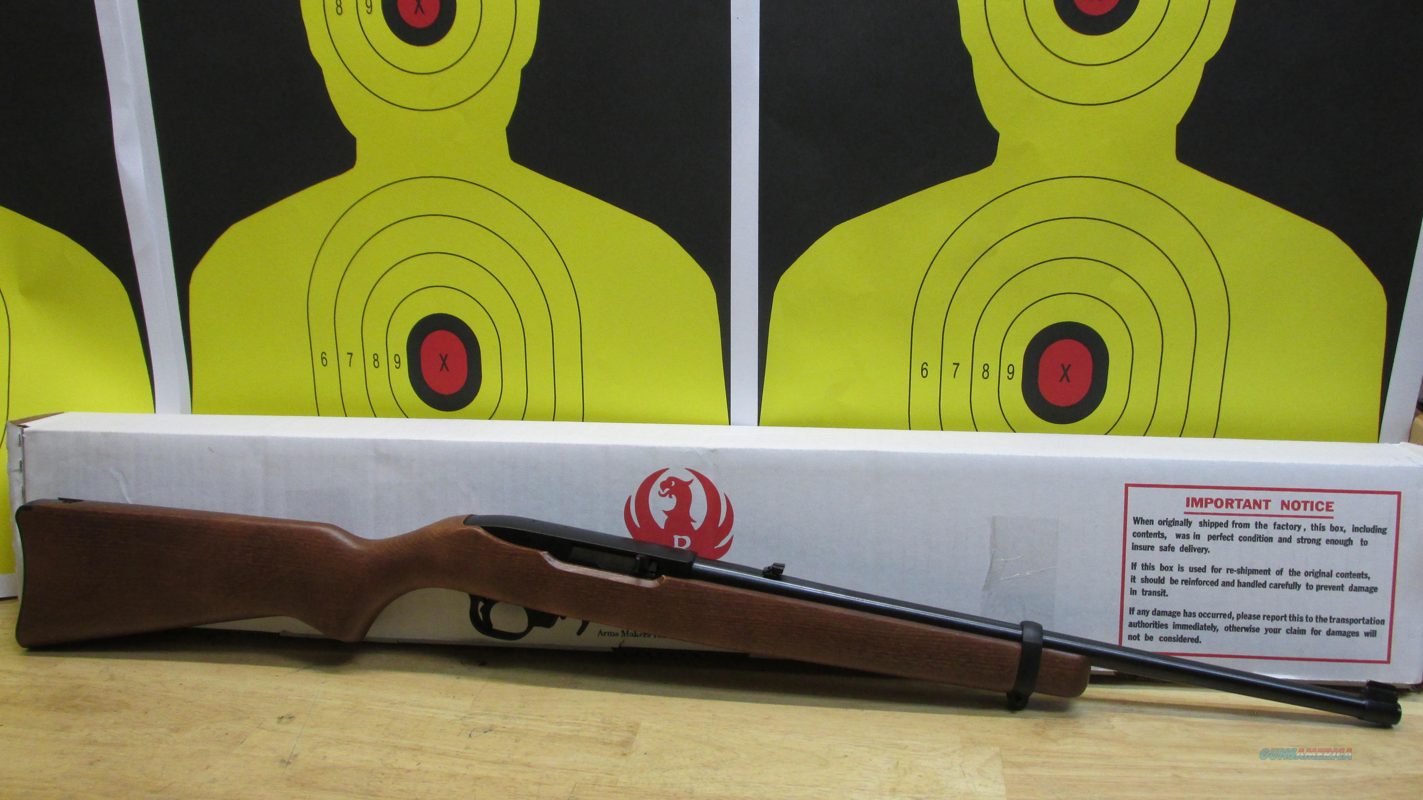 "RUGER 10/22 .22LR RIFLE WOOD STOCK, 10 ROUND MAGAZINE, 18.5"" BARREL  Guns > Rifles > Ruger Rifles > 10-22"