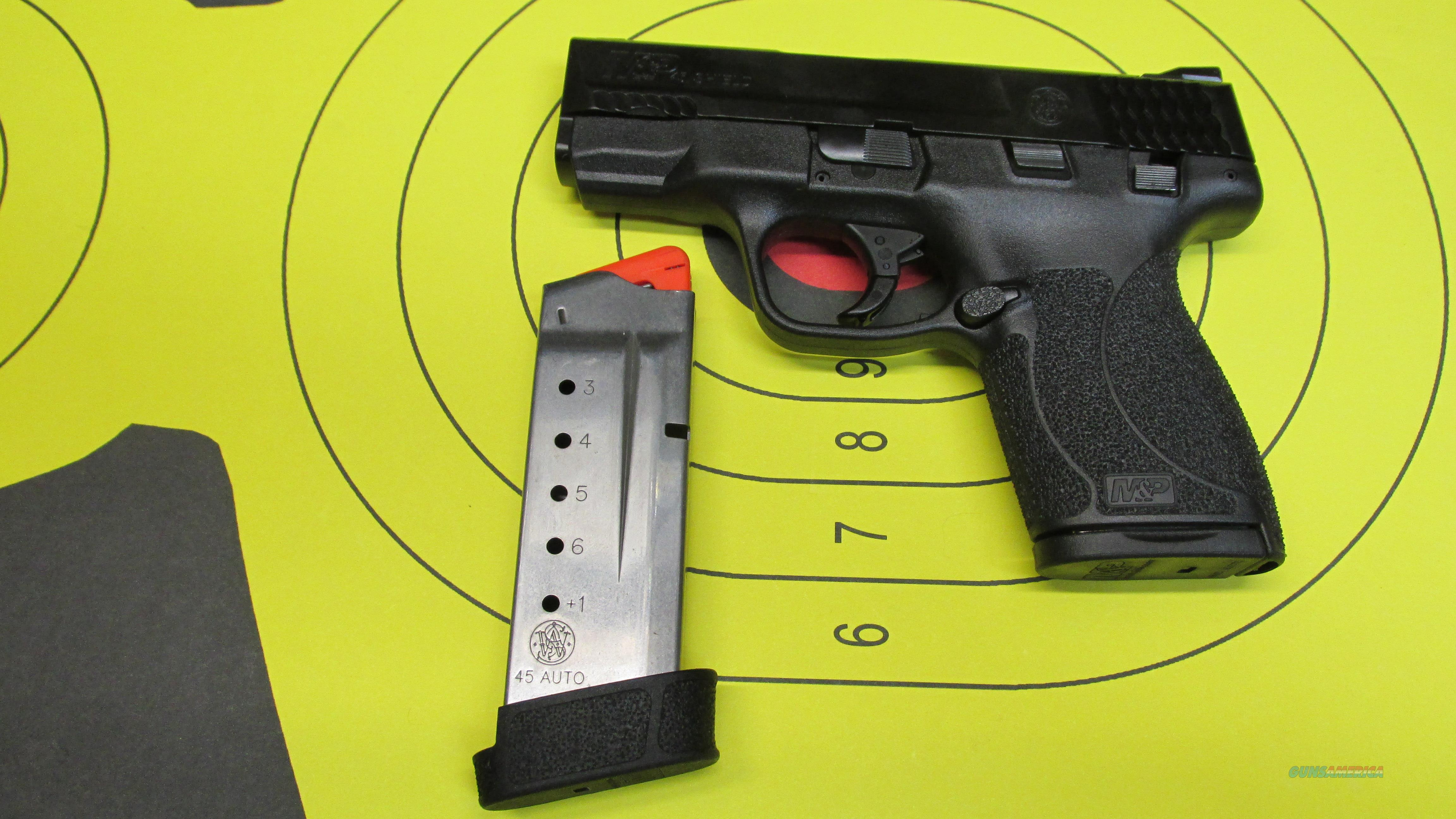 "SMITH &WESSON M&P45 SHIELD WITH THUMB SAFETY, .45ACP PISTOL, 6RD MAGAZINE, 7 RD MAGAZINE, 3.4"" BARREL  Guns > Pistols > Smith & Wesson Pistols - Autos > Shield"