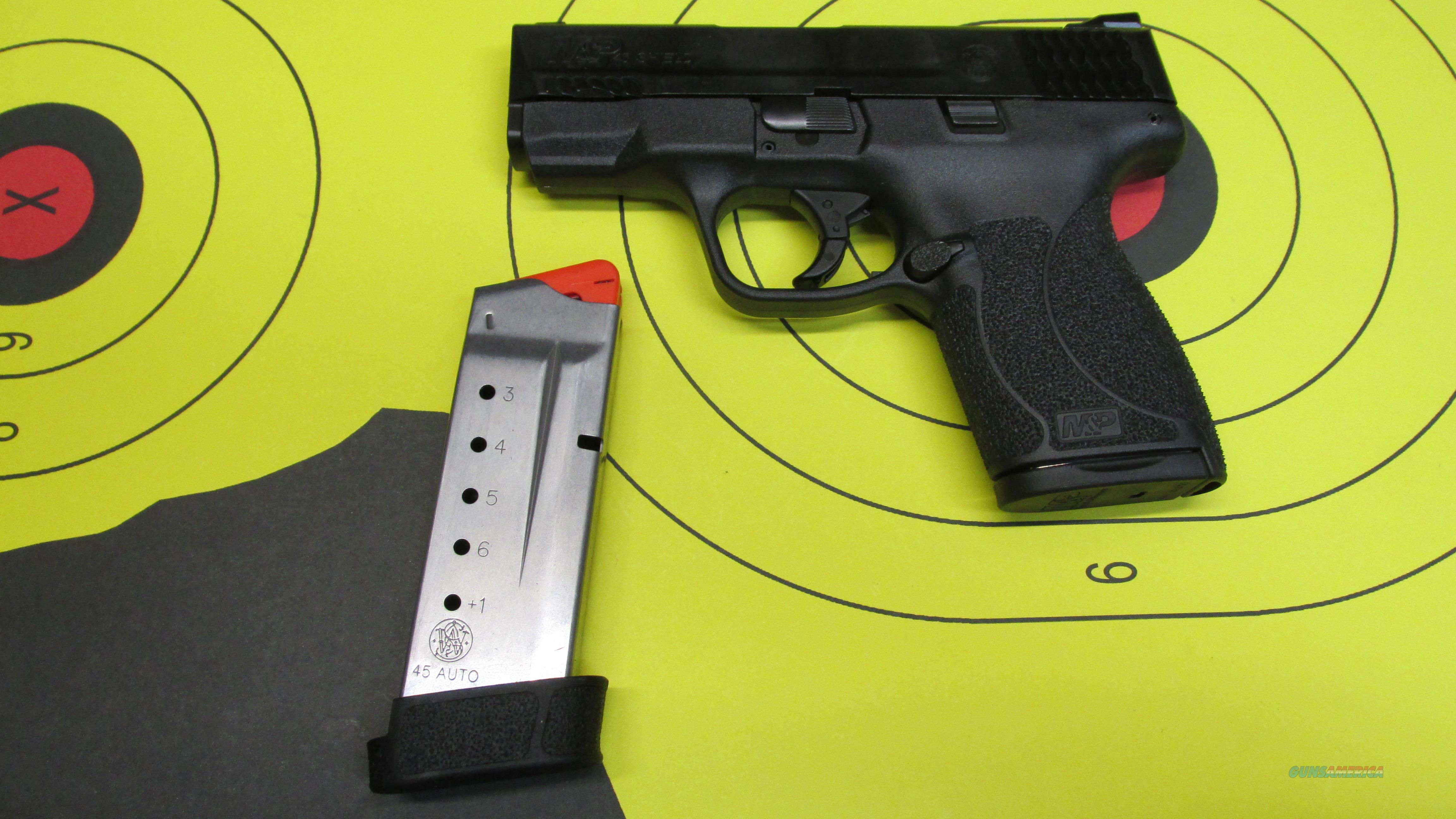 "SMITH &WESSON M&P45 SHIELD NMS .45ACP PISTOL, 6RD MAGAZINE, 7 RD MAGAZINE, 3.4"" BARREL  Guns > Pistols > Smith & Wesson Pistols - Autos > Shield"