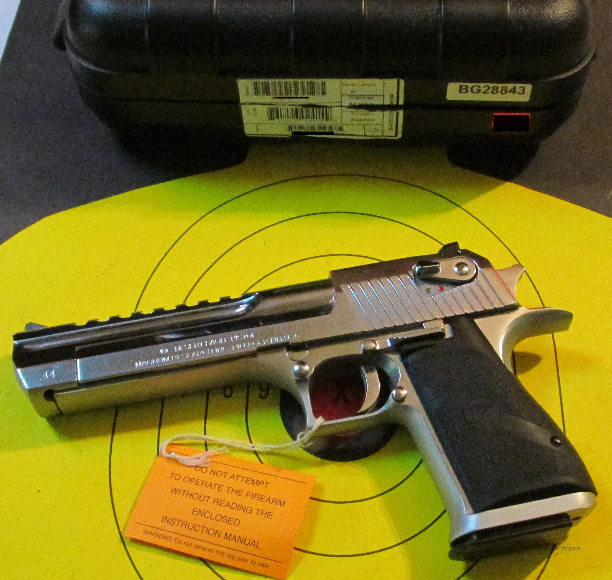 MAGNUM RESEARCH DESERT EAGLE 44 MAG POLISHED STAINLESS PISTOL  Guns > Pistols > Magnum Research Pistols