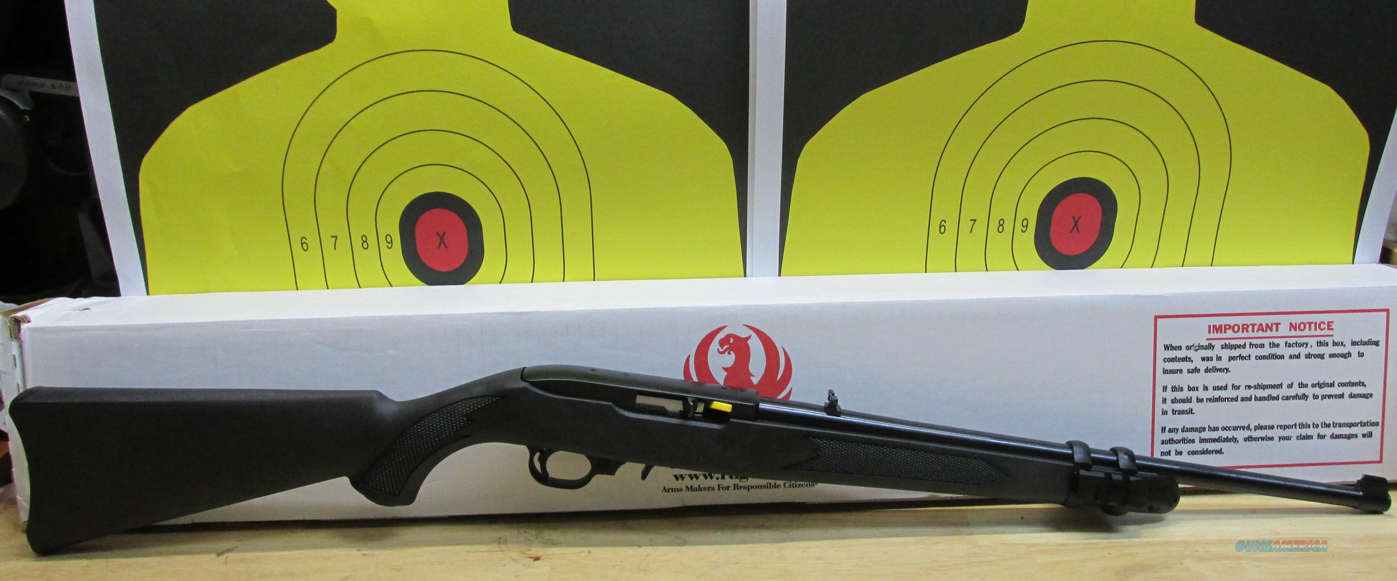 "RUGER 10/22 .22LR RIFLE BLACK SYNTHETIC STOCK WITH LASERMAX RED LASER, 10 ROUND MAGAZINE, 18"" BARREL  Guns > Rifles > Ruger Rifles > 10-22"