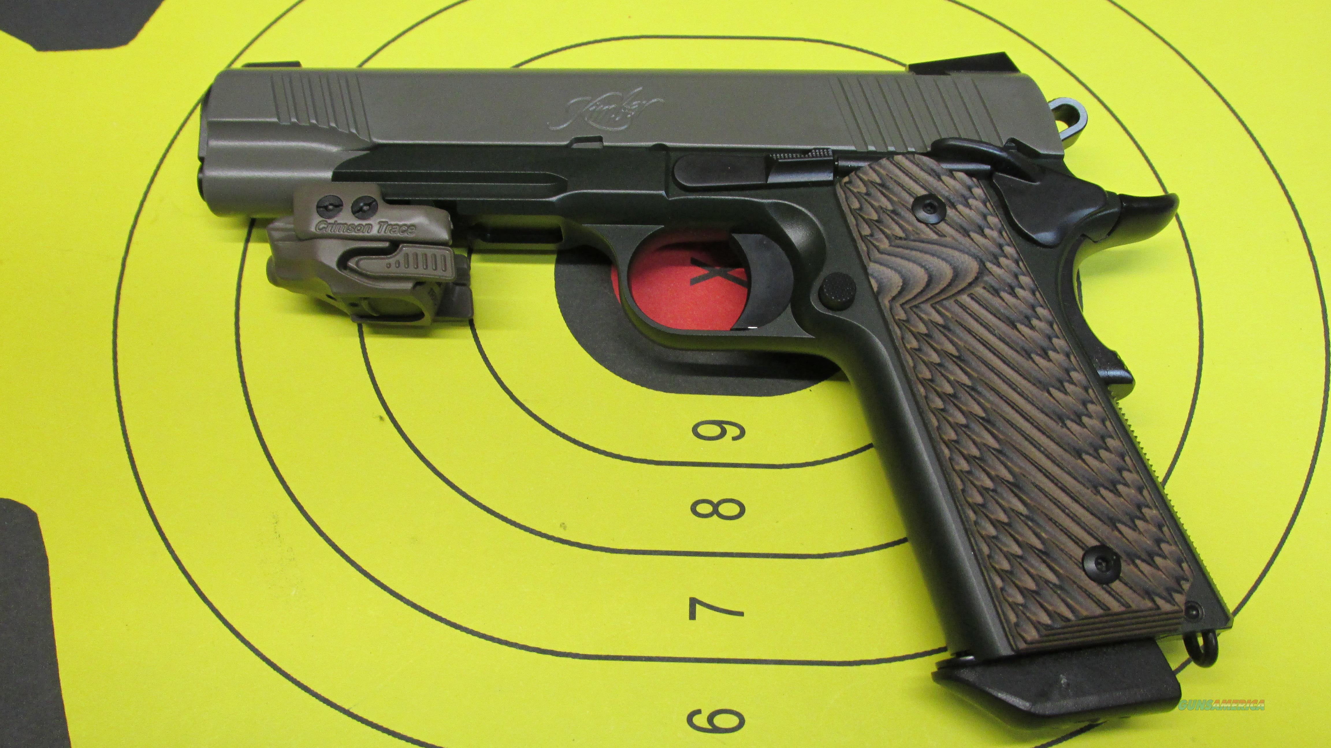 "KIMBER WARRIOR SOC WITH RAIL & RED CRIMSON TRACE LASER, .45 ACP PISTOL, 8 ROUND MAGAZINE, 5"" BARREL  Guns > Pistols > Kimber of America Pistols"