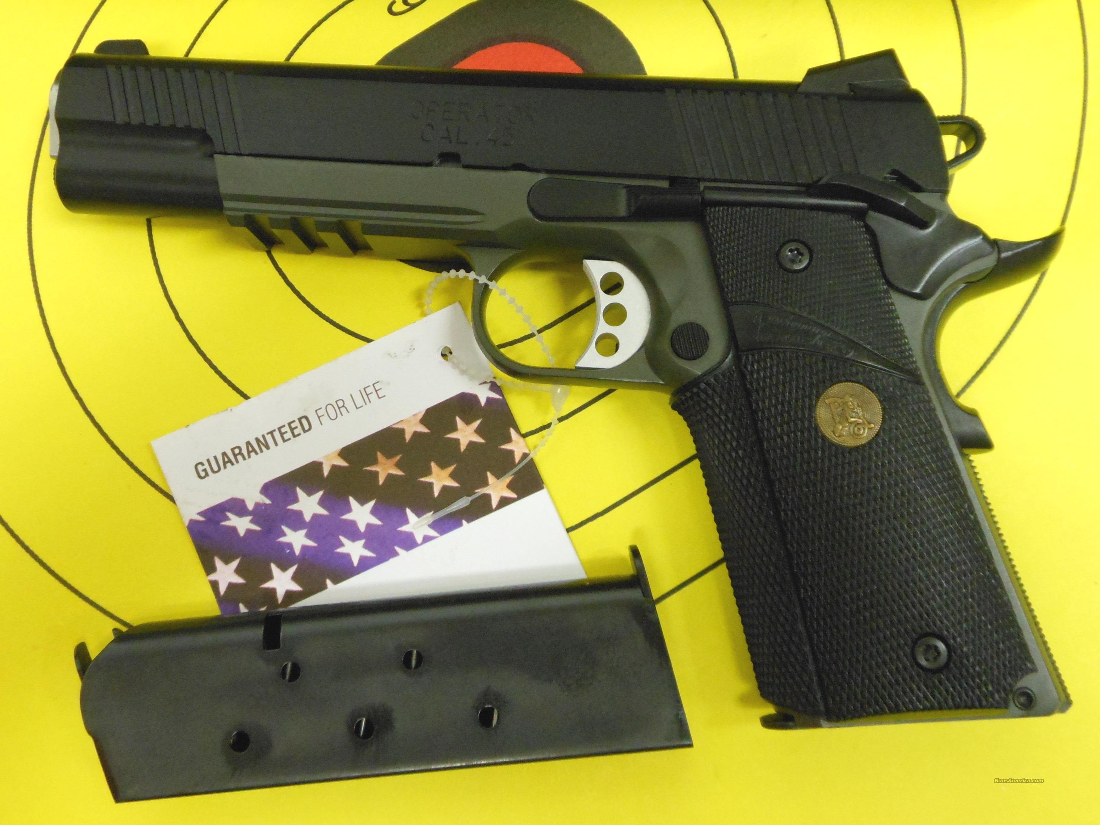 SPRINGFIELD ARMORY OPERATOR PX9105MLP RAILED 45 ACP 1911 *OD GREEN, PACHMAYR GRIPS*  Guns > Pistols > Springfield Armory Pistols > 1911 Type
