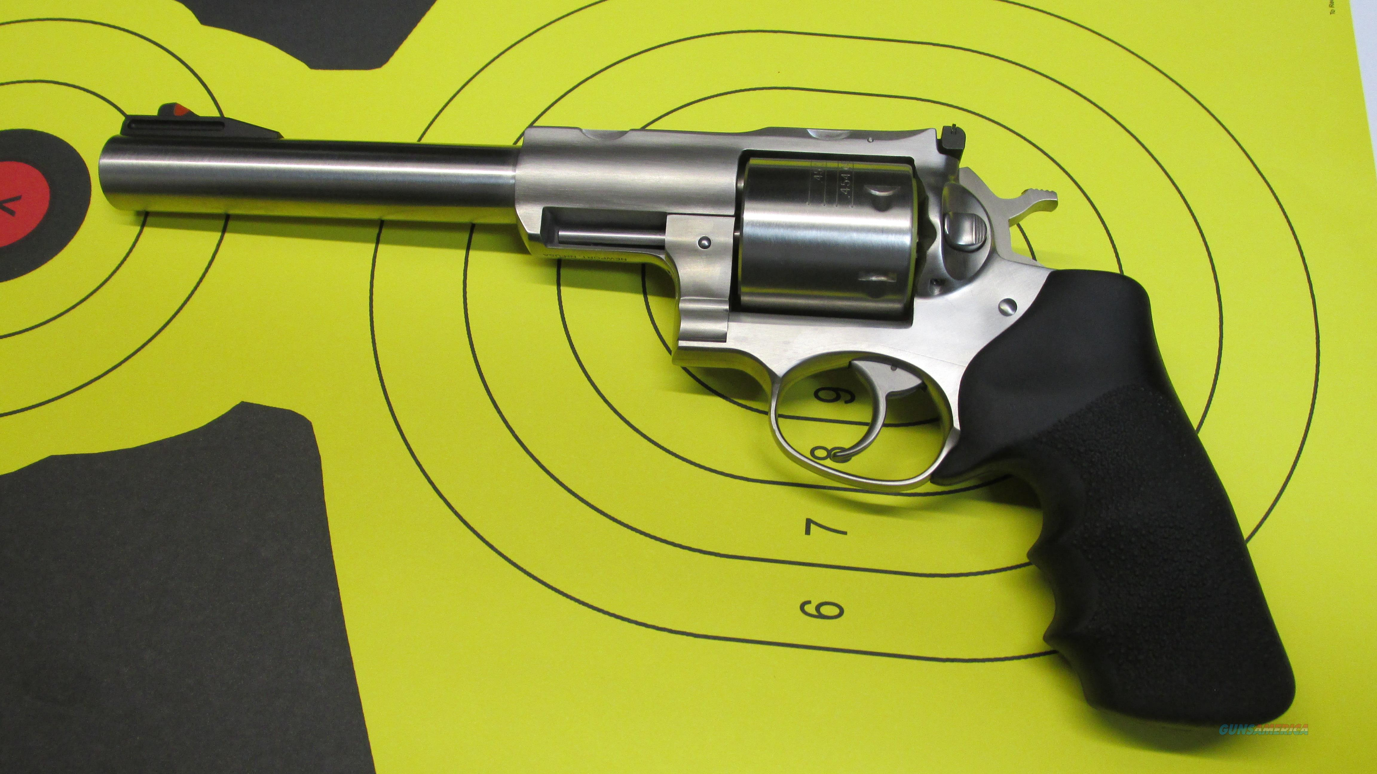 "RUGER SUPER REDHAWK 6 SHOT 454 CASULL REVOLVER, 7.5"" BARREL  Guns > Pistols > Ruger Double Action Revolver > Redhawk Type"