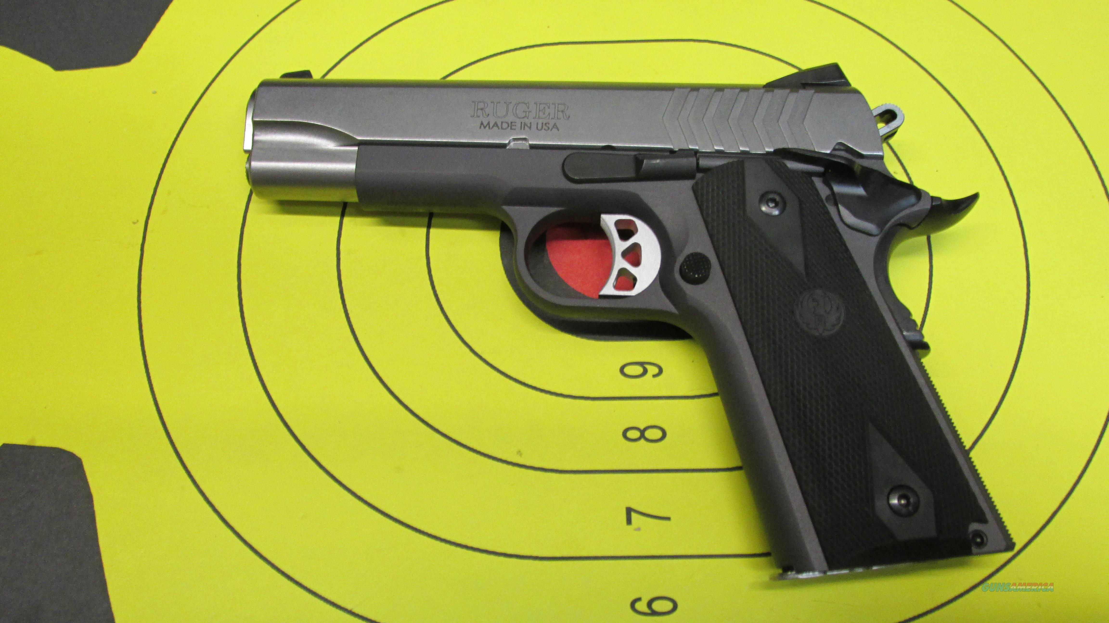"RUGER SR1911 9MM PISTOL 2 9 ROUND MAGAZINES WITH A 4.25""  Guns > Pistols > Ruger Semi-Auto Pistols > 1911"