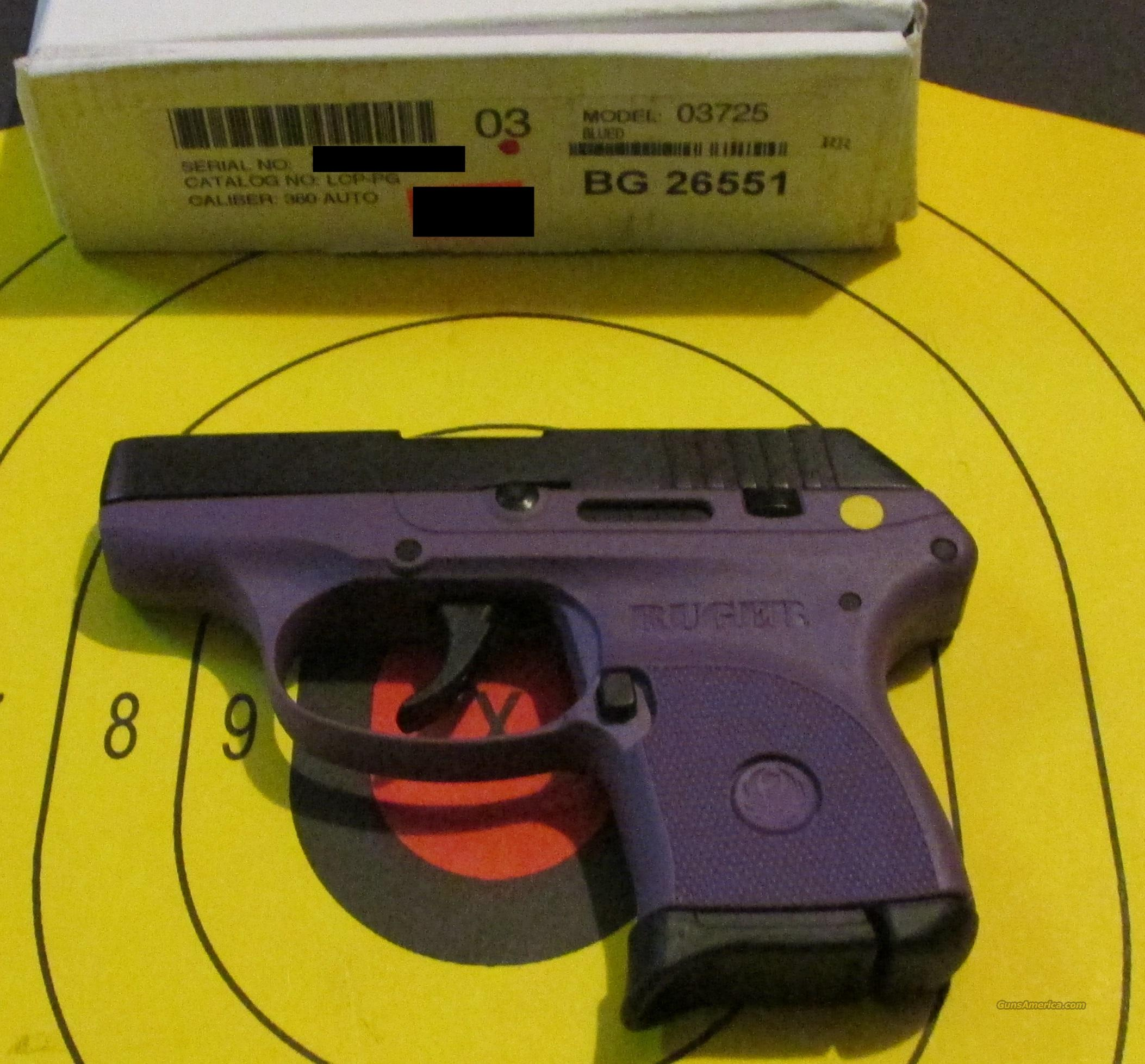 RUGER LCP-PG (03725) PURPLE .380ACP  Guns > Pistols > Ruger Semi-Auto Pistols > LCP