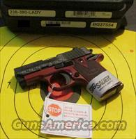 SIG SAUER P-238-380-LADY (LADY IN RED) .380ACP  Guns > Pistols > Sig - Sauer/Sigarms Pistols > P238