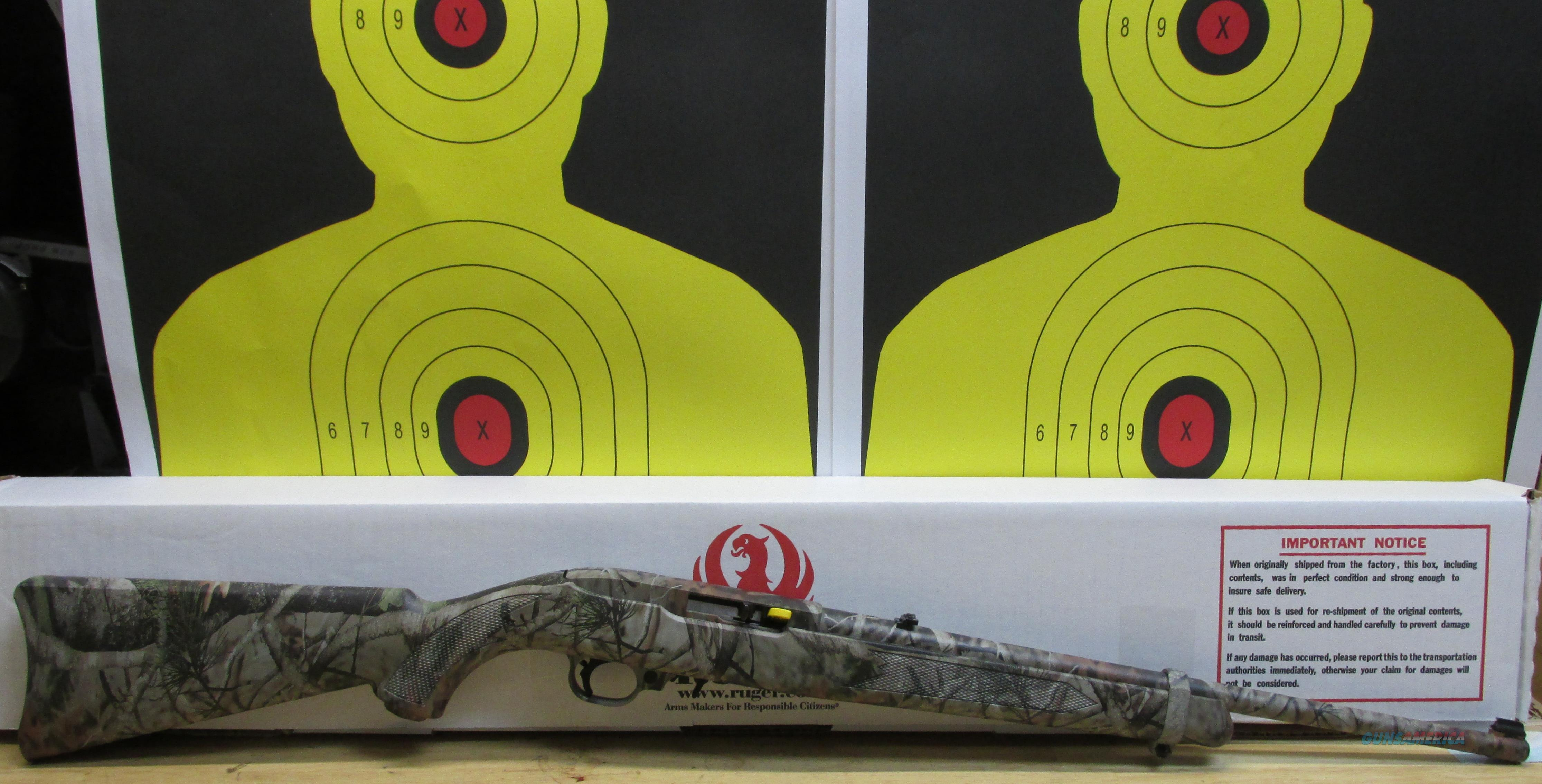 "RUGER 10/22 .22LR RIFLE CAMO NEXT G-1VISTA SYNTHETIC STOCK, 10 ROUND MAGAZINE, 18.5"" BARREL  Guns > Rifles > Ruger Rifles > 10-22"