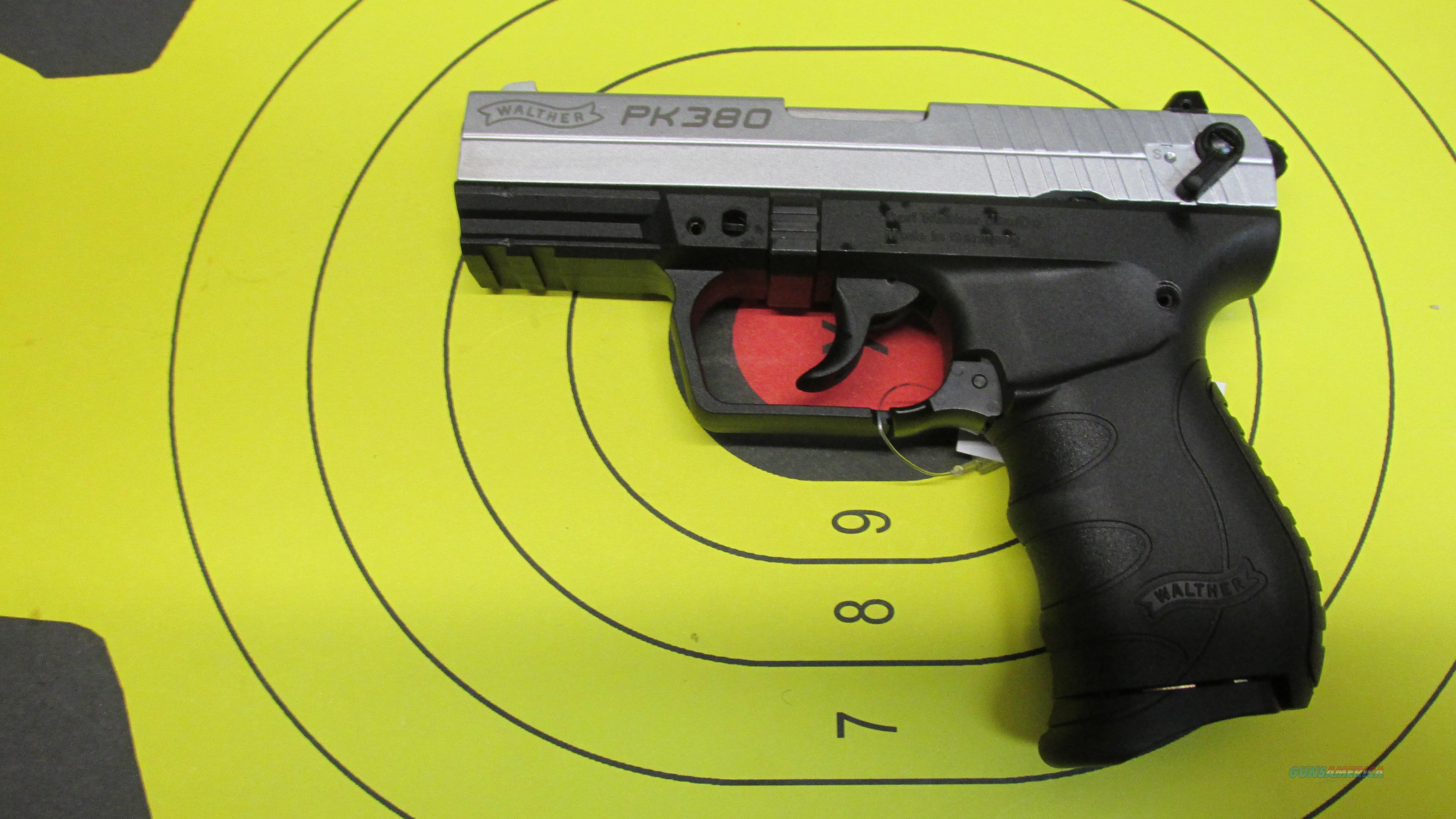 "WALTHER PK380 BI-TONE .380ACP PISTOL 7 ROUND MAGAZINE WITH A 3.66"" BARREL  Guns > Pistols > Walther Pistols > Post WWII > PK380"