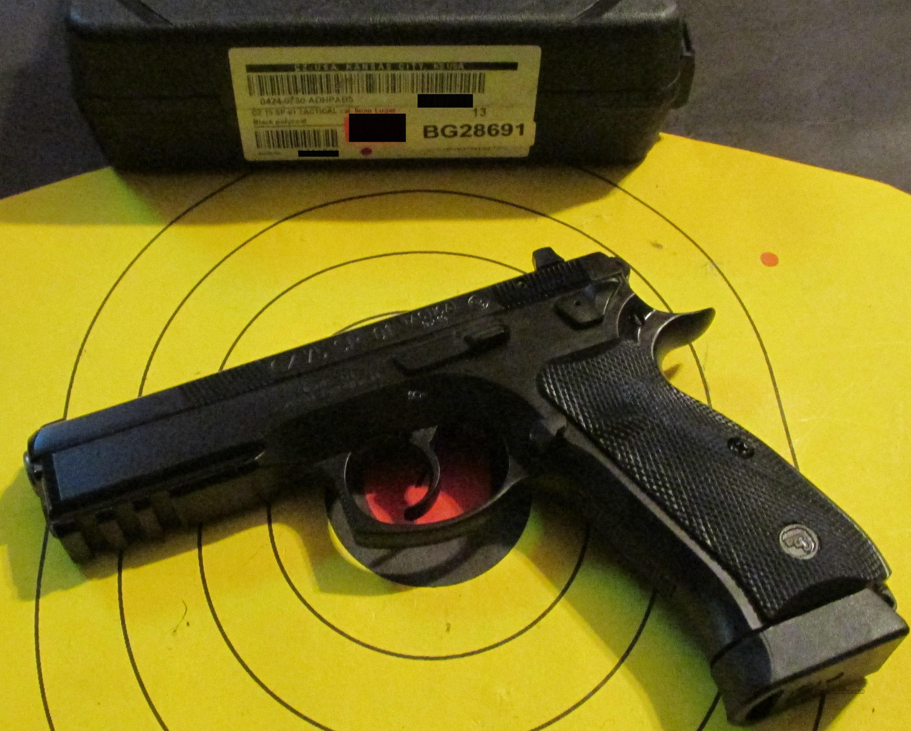 CZ-USA CZ-75 SP-01 BD TACTICAL 40 S&W  Guns > Pistols > CZ Pistols