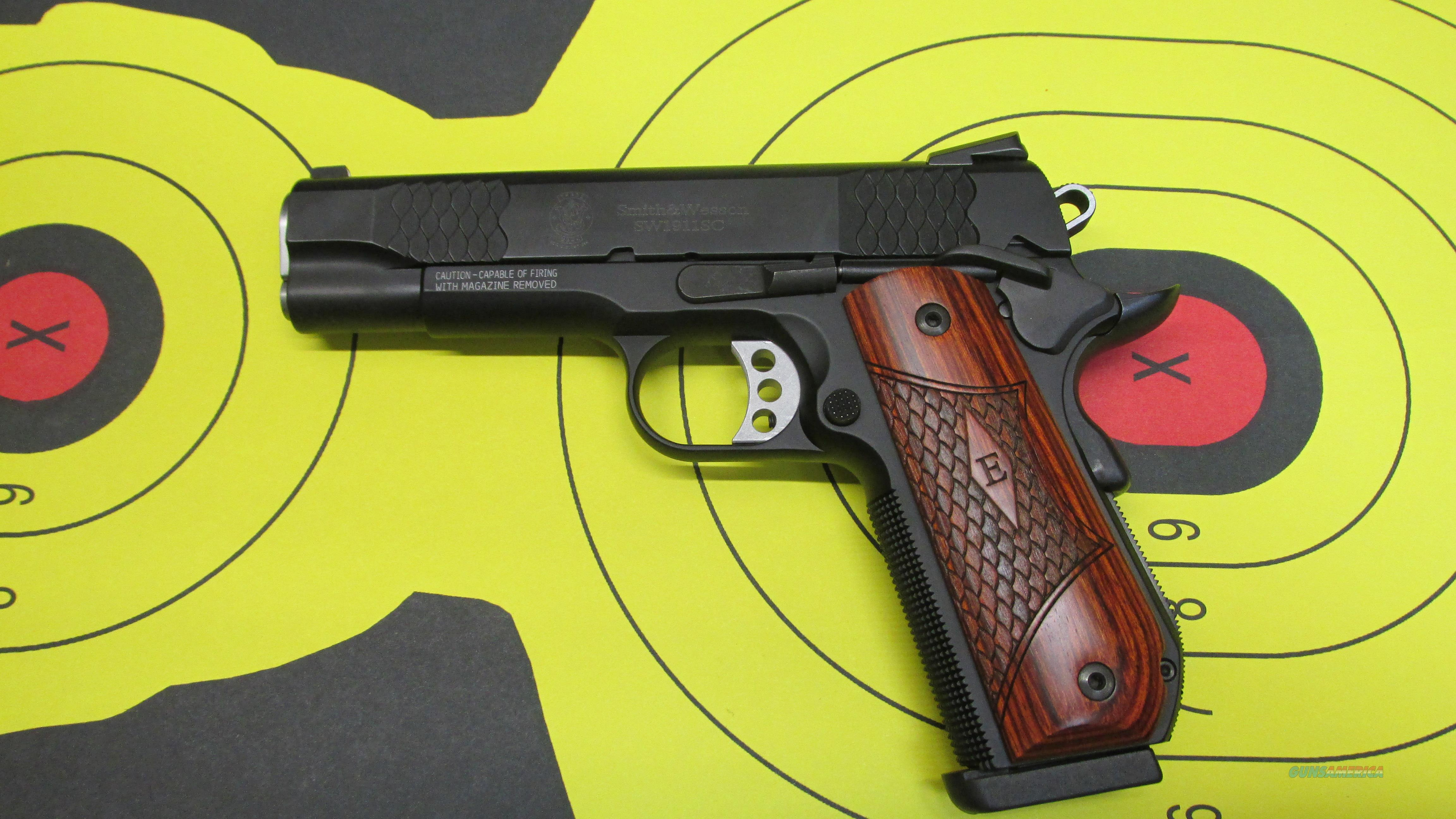 "SMITH & WESSON SW1911SC .45 ACP PISTOL E-SERIES BLUED, 4.25"" Barrel, (1) 8 ROUND MAGAZINE  Guns > Pistols > Smith & Wesson Pistols - Autos > Steel Frame"