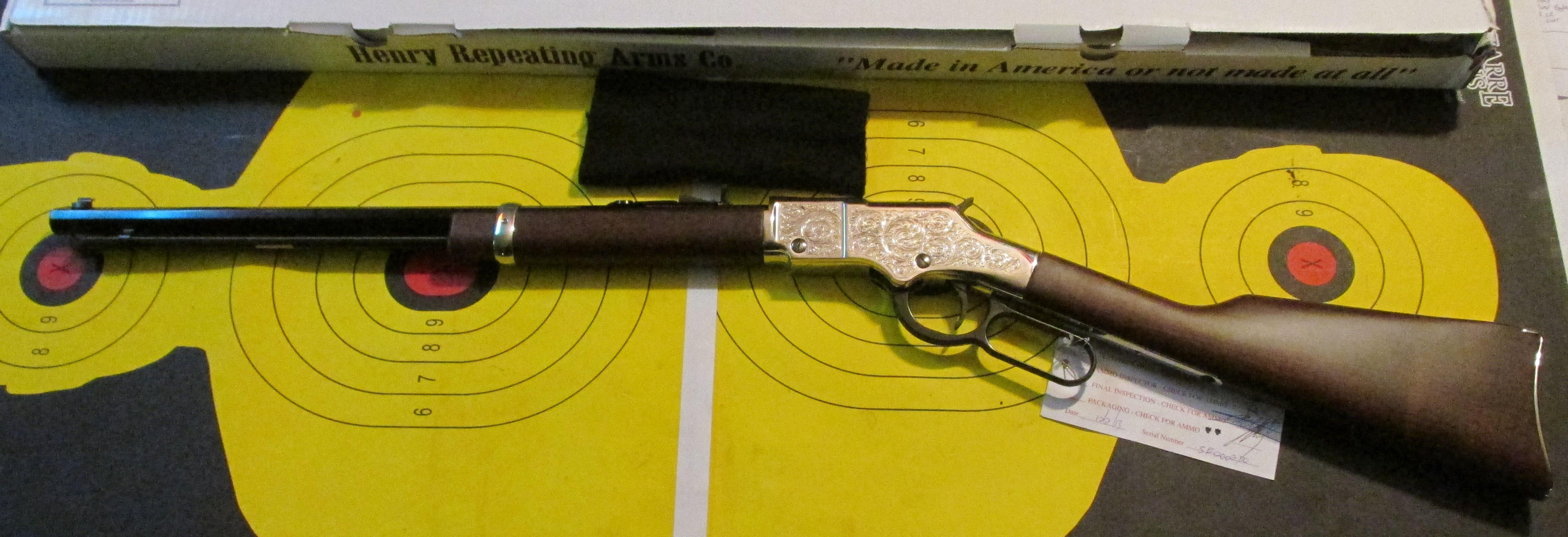 Henry Silver Eagle 22 LR Lever Action Rifle  Guns > Rifles > Henry Rifle Company