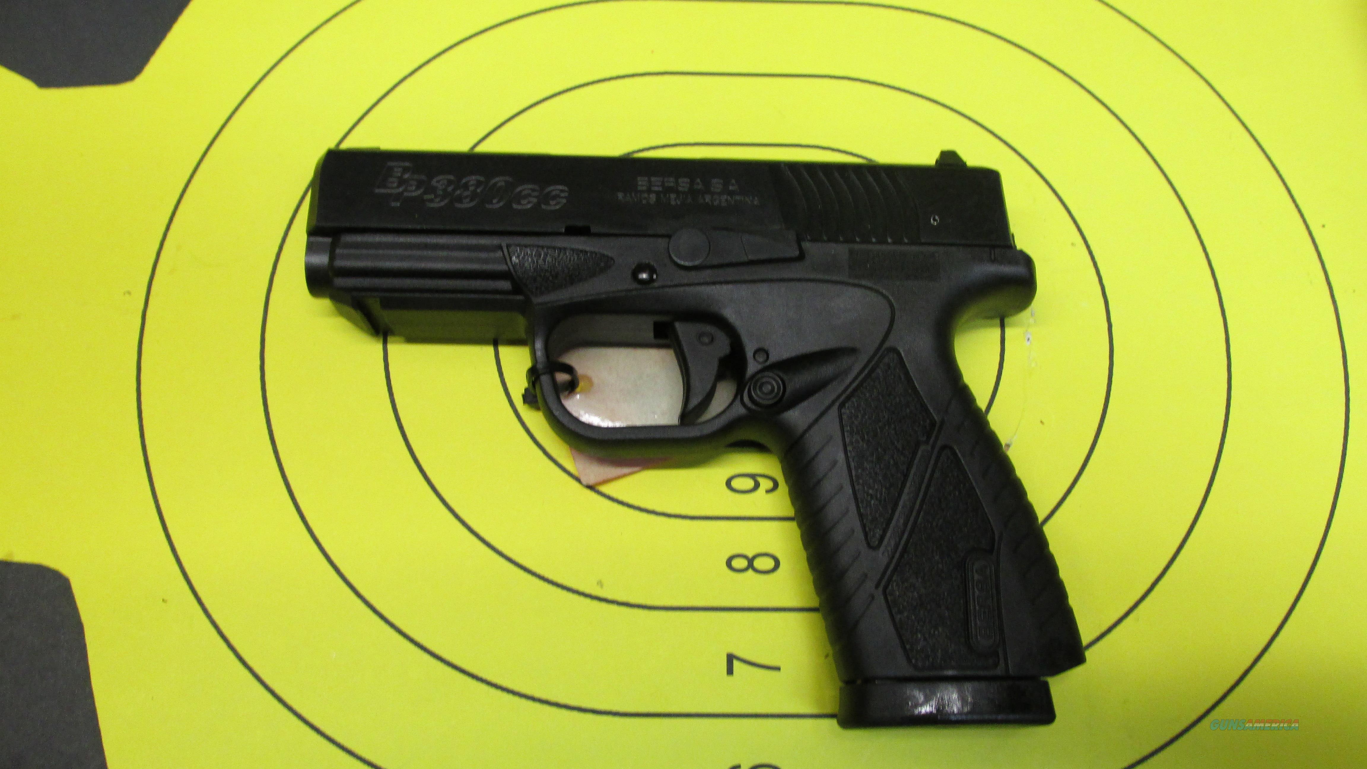 "BERSA BP380 CC MATTE BLACK .380ACP PISTOL 2 8 ROUND MAGAZINES WITH 3.3"" BARREL  Guns > Pistols > Bersa Pistols"