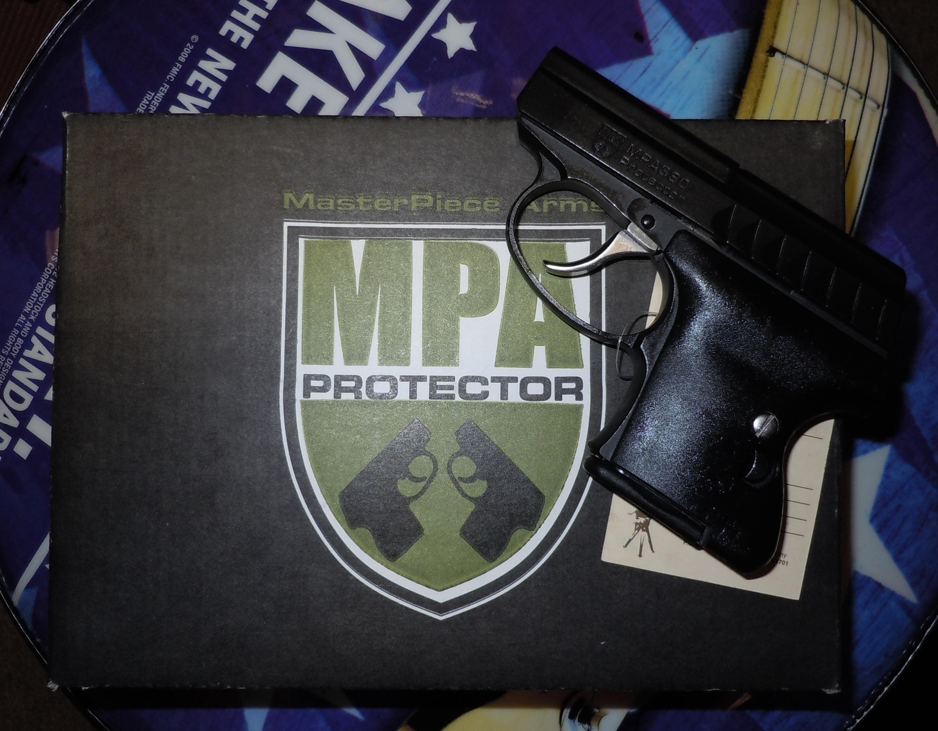 MASTERPIECE ARMS MPA380B PROTECTOR  380ACP SUBCOMPACT PISTOL, ONE OF THE SMALLEST ON THE MARKET  Guns > Pistols > MasterPiece Arms Pistols > Protector