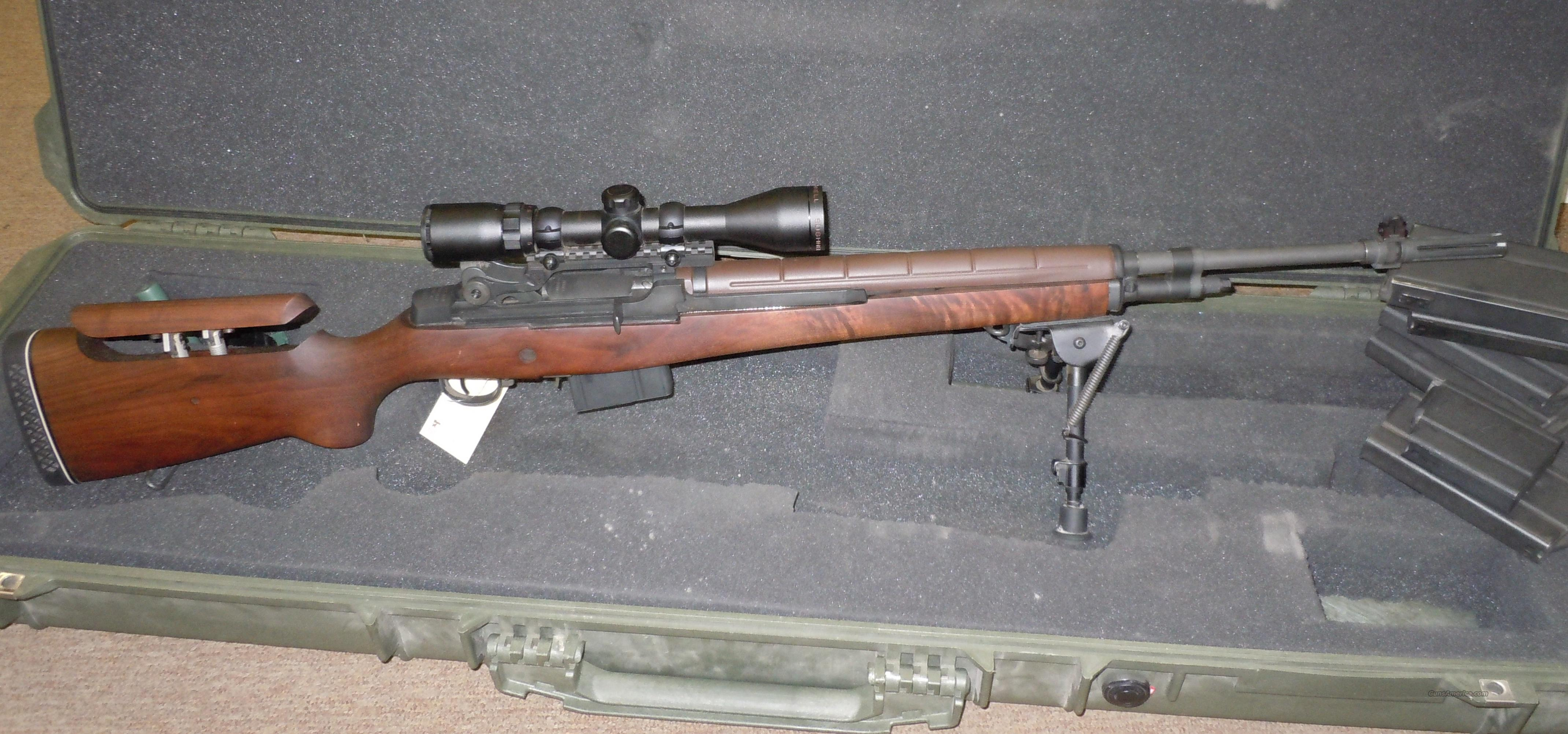 SPRINGFIELD ARMORY M1A (M21) 308 WIN RIFLE W/ ADJUSTABLE WOODEN STOCK AND GENERATION 3 SCOPE MOUNT  Guns > Rifles > Springfield Armory Rifles > M1A/M14