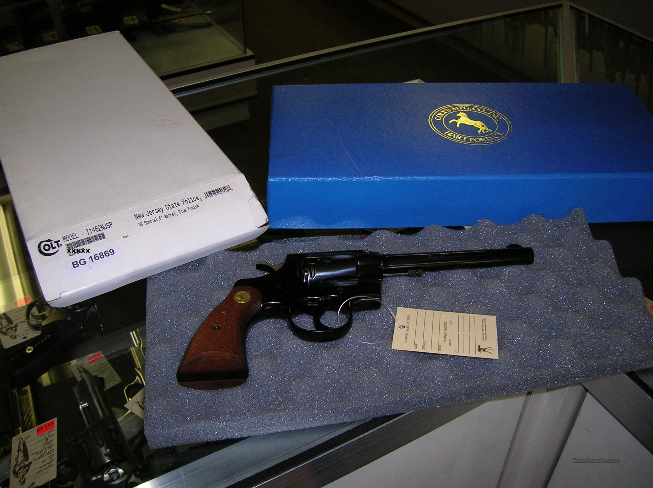 COLT ARMY SPECIAL 38SPC REVOLVER NJ STATE POLICE COMMEMORATIVE  Guns > Pistols > Colt Double Action Revolvers- Modern