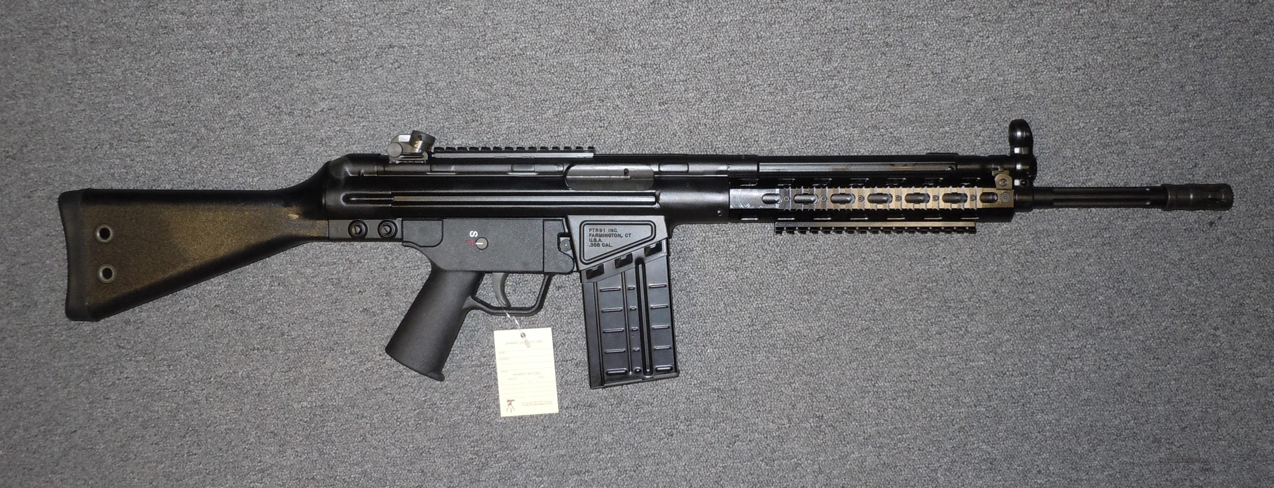 PRECISION TACTICAL RIFLES PTR-91 SC (SQUAD CARBINE)  7.62 X 51 (308WIN) RIFLE WITH FLUTED BARREL AND FOREARM RAIL, VERY NICE HK 91 CLONE    Guns > Rifles > PQ Misc Rifles