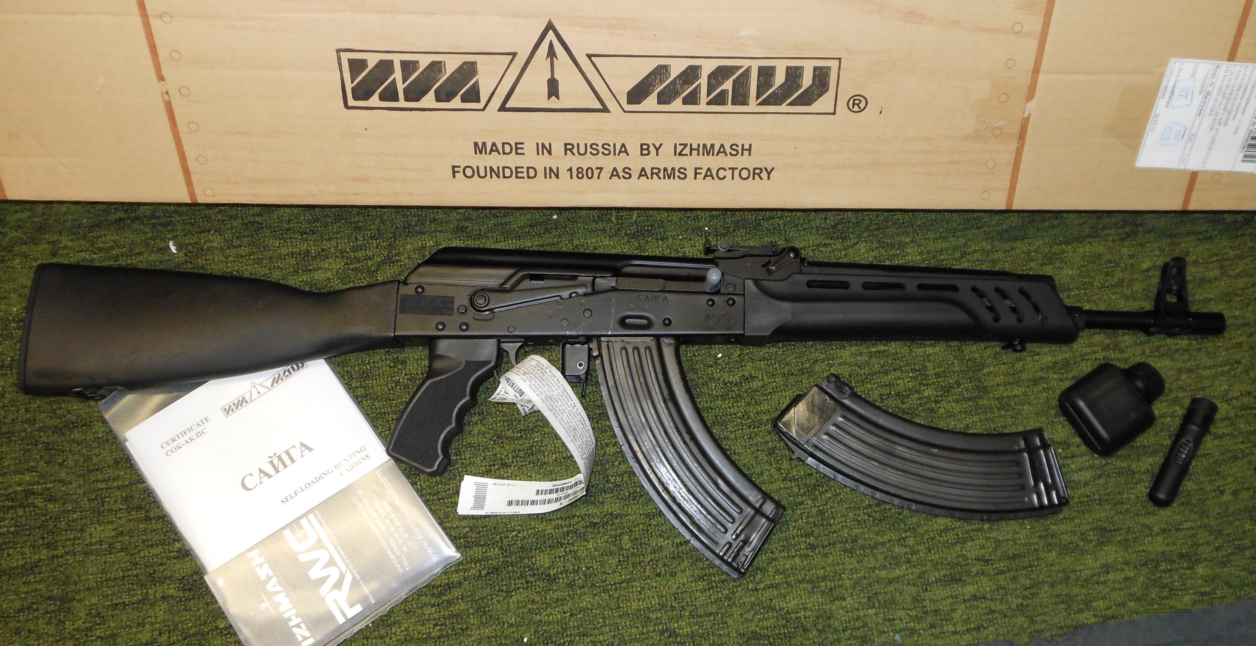 CENTURY ARMS SAIGA 7.62X39 RIFLE (RI1808E) MODIFIED W/ PISTOL GRIP AND ACCEPTS STANDARD AK MAGS  Guns > Rifles > Century International Arms - Rifles > Rifles