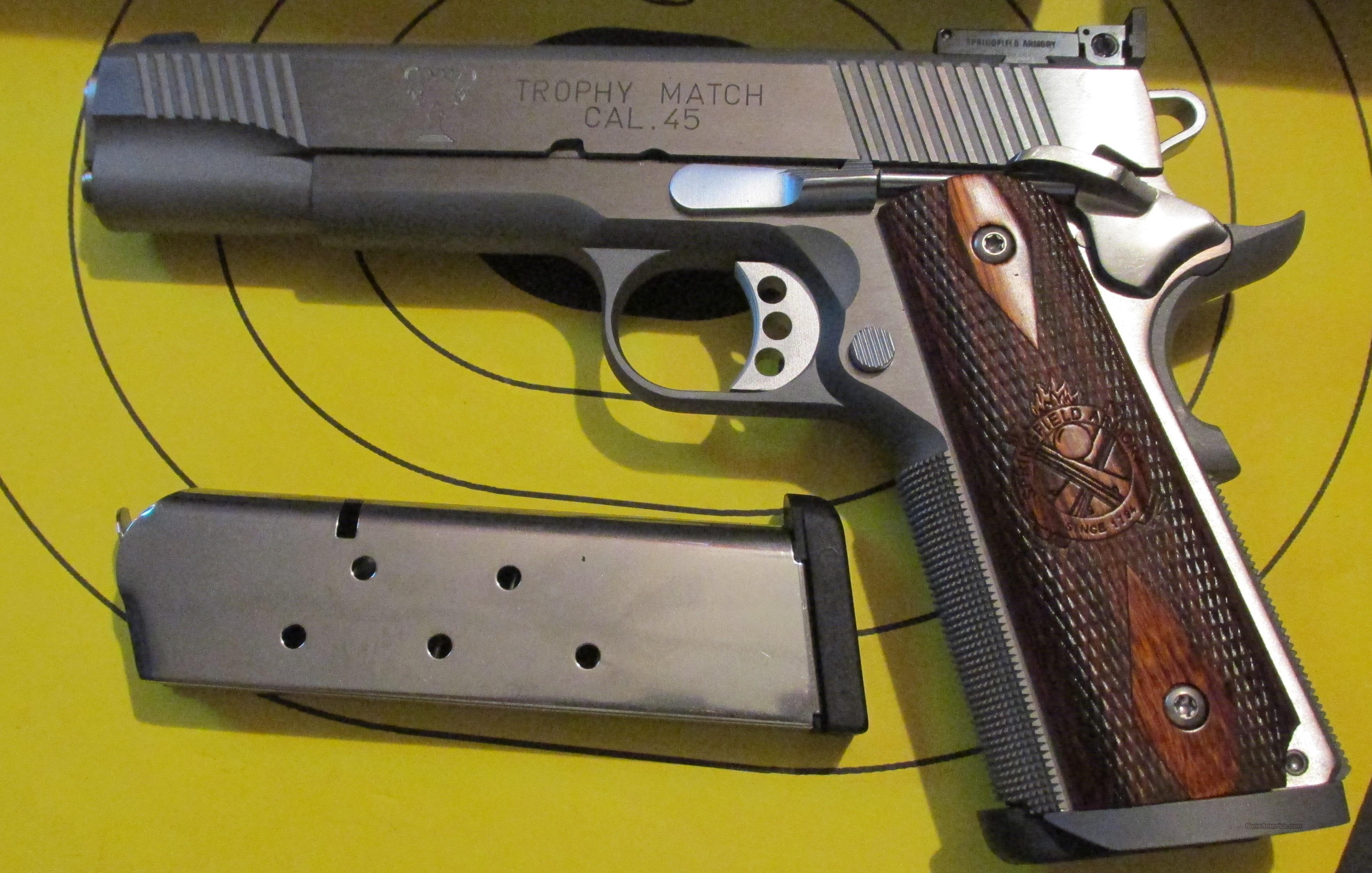 SPRINGFIELD ARMORY TROPHY MATCH 1911 STYLE 45ACP PISTOL (PI9140LP)  Guns > Pistols > Springfield Armory Pistols > 1911 Type