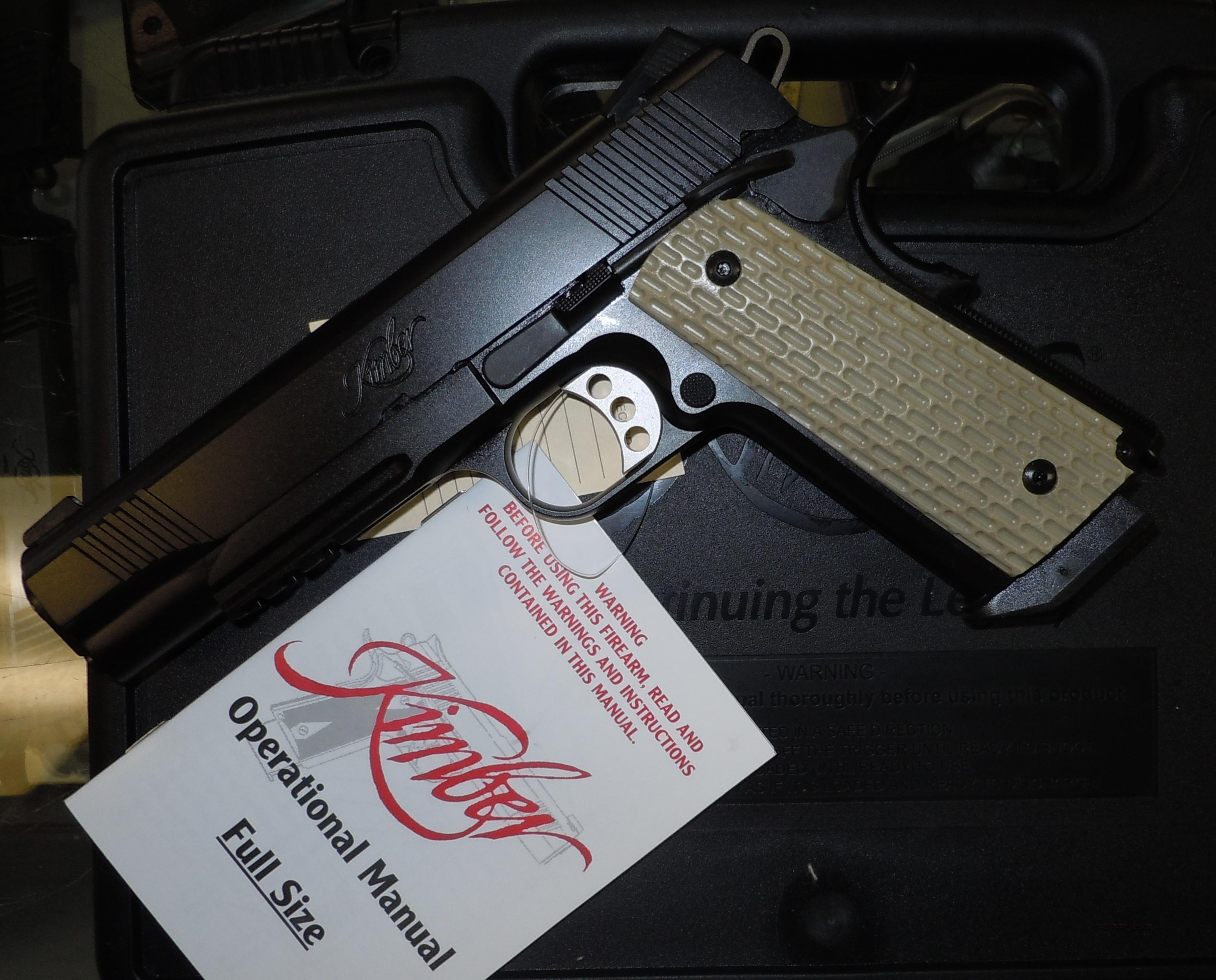 KIMBER WARRIOR 45ACP 1911 STYLE TACTICAL RAIL PISTOL  Guns > Pistols > Kimber of America Pistols