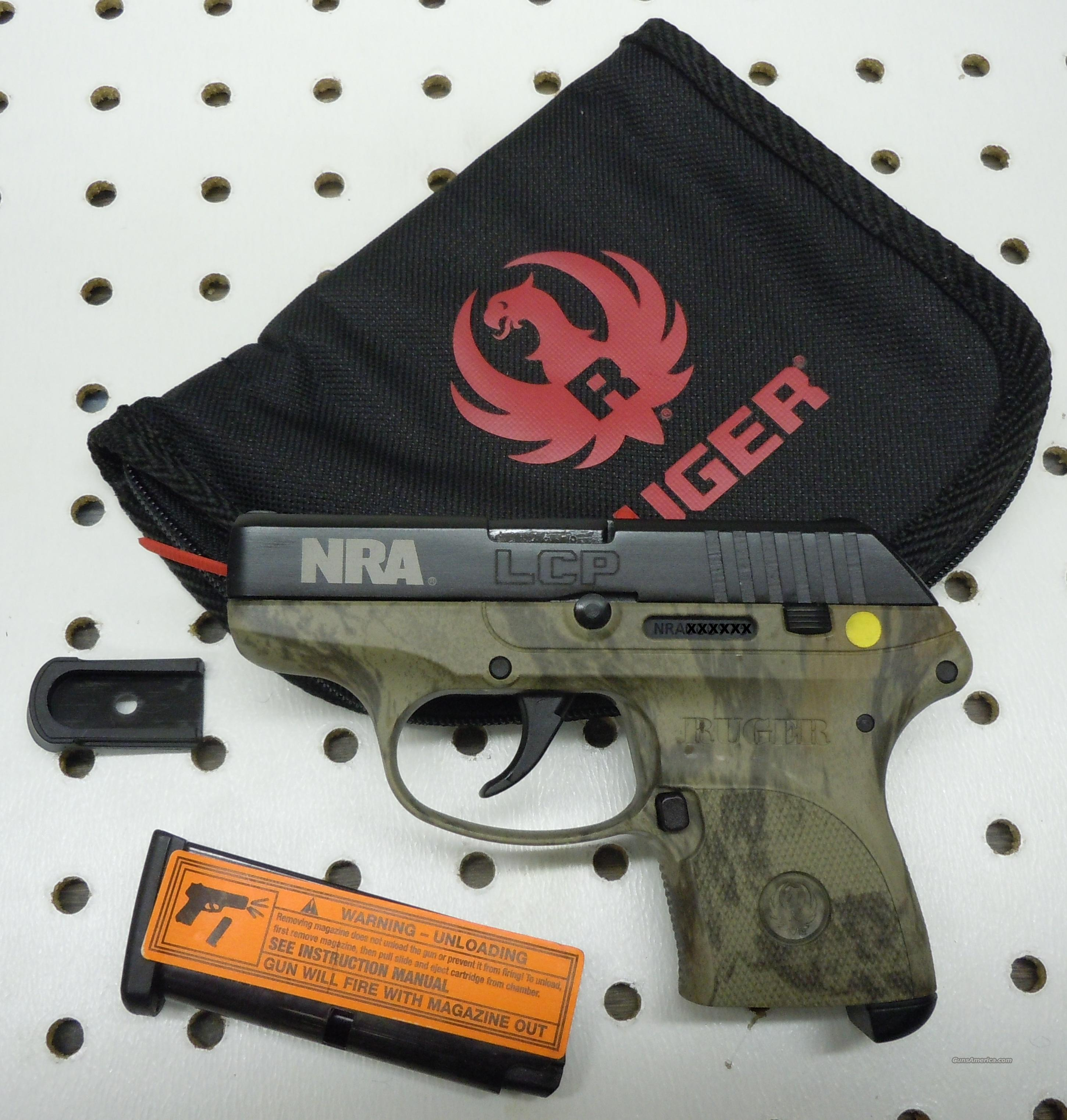 RUGER LCP 380ACP PISTOL CAMO NRA LIMITED EDITION  Guns > Pistols > Ruger Semi-Auto Pistols > LCP