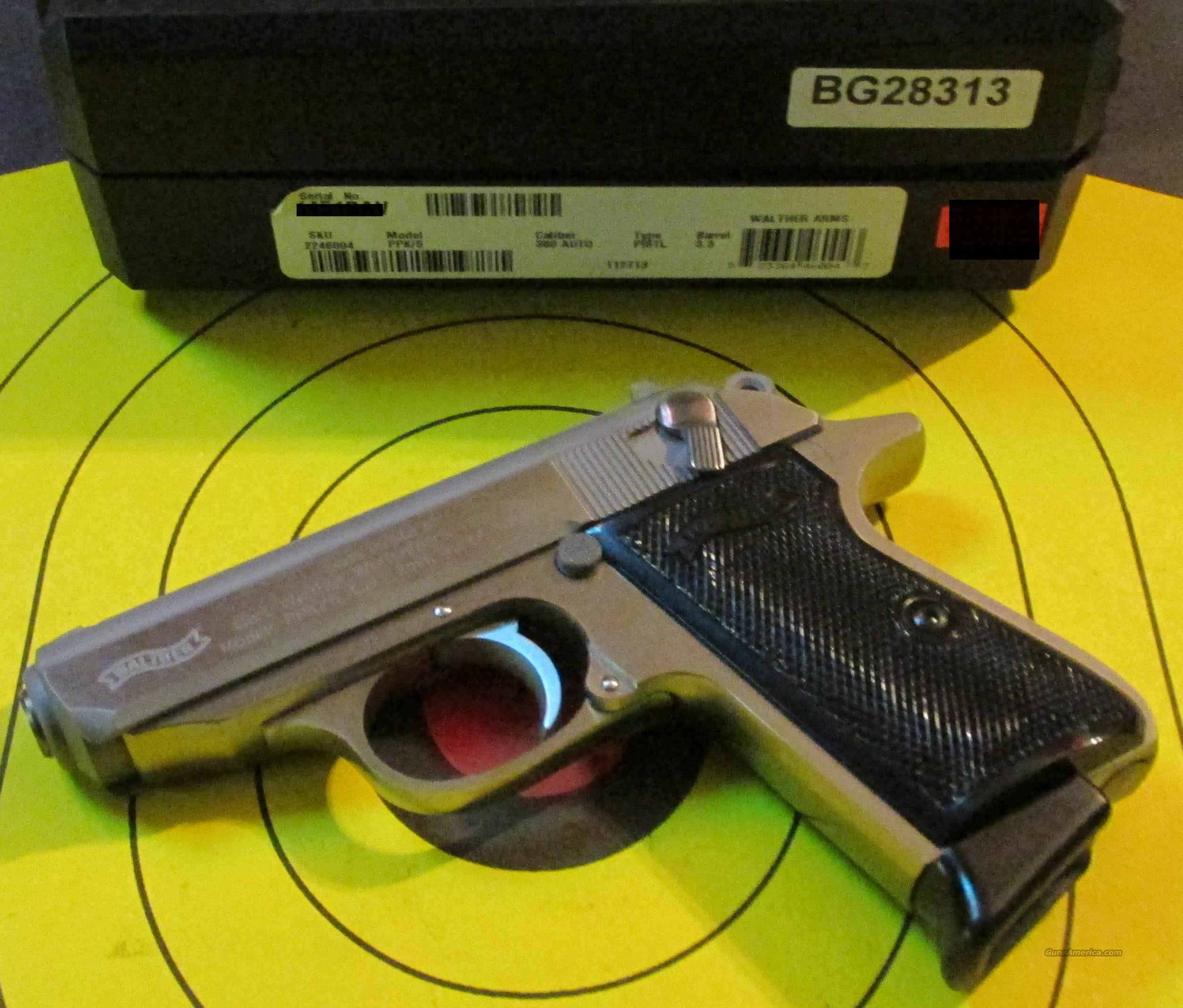 WALTHER PPK/S 380ACP PISTOL  Guns > Pistols > Walther Pistols > Post WWII > PPK Series