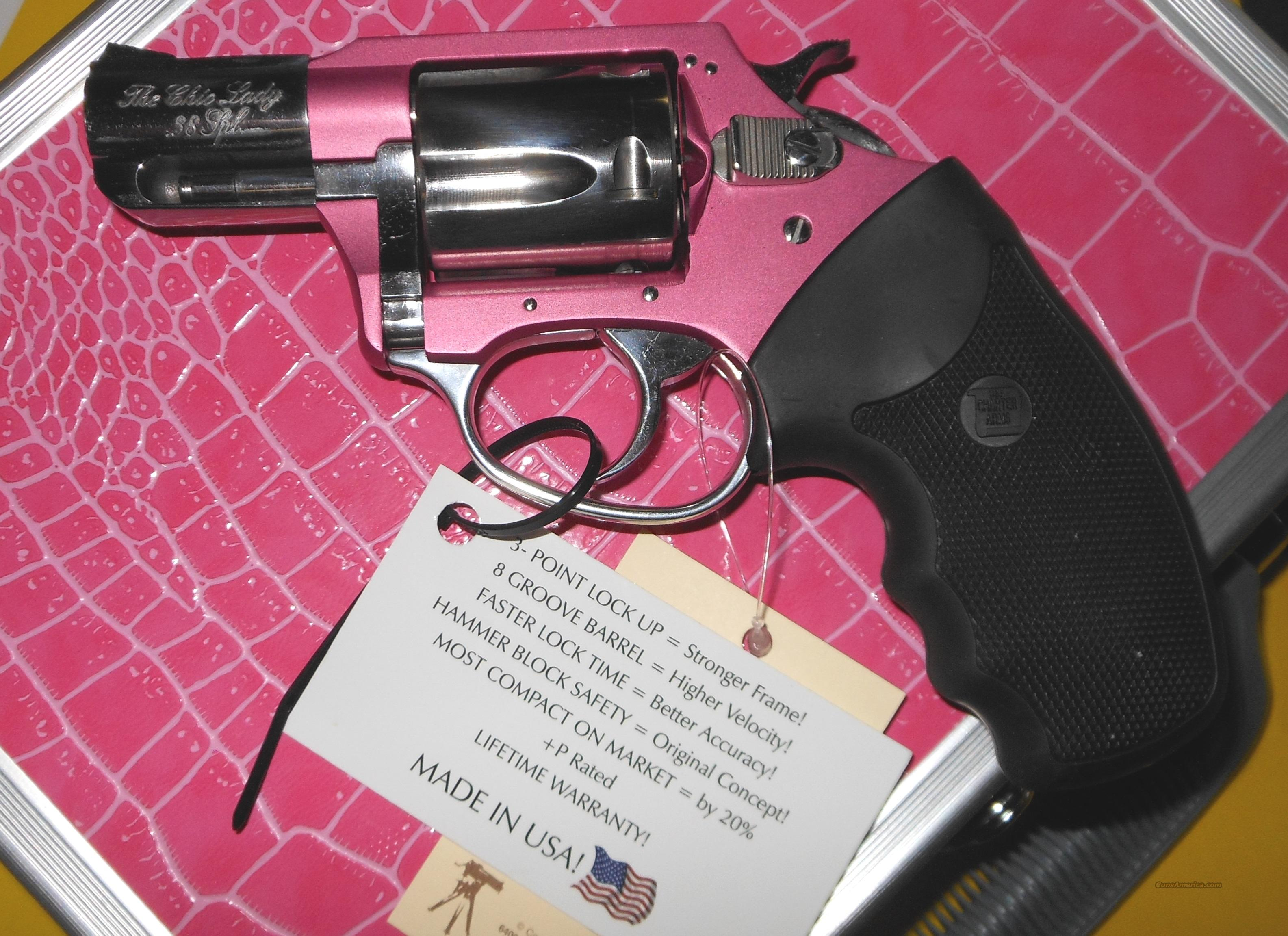 CHARTER ARMS CHIC LADY 38SPC REVOLVER W/ PINK CASE  Guns > Pistols > Charter Arms Revolvers