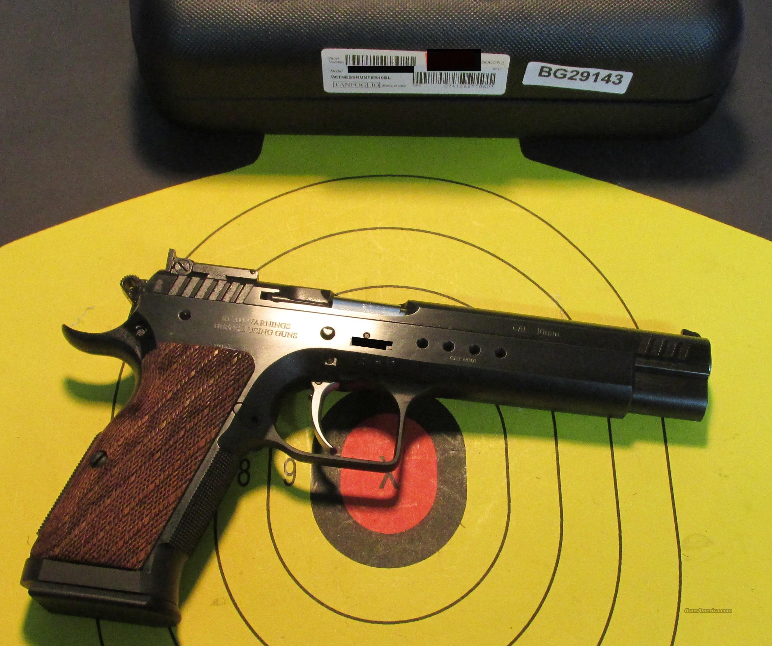 "TANFOGLIO WITNESS HUNTER 10 6"" 10MM PISTOL  Guns > Pistols > Tactical Pistols Misc."