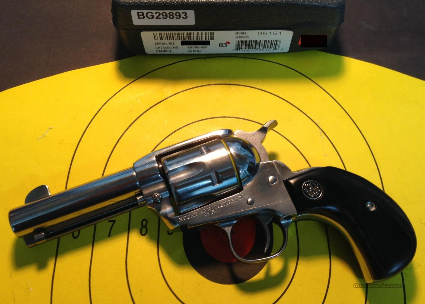 "RUGER NEW VAQUERO BIRDS HEAD GRIP KNVBH-453 45 COLT 3 3/4"" REVOLVER(05151)  Guns > Pistols > Ruger Single Action Revolvers > Cowboy Action"