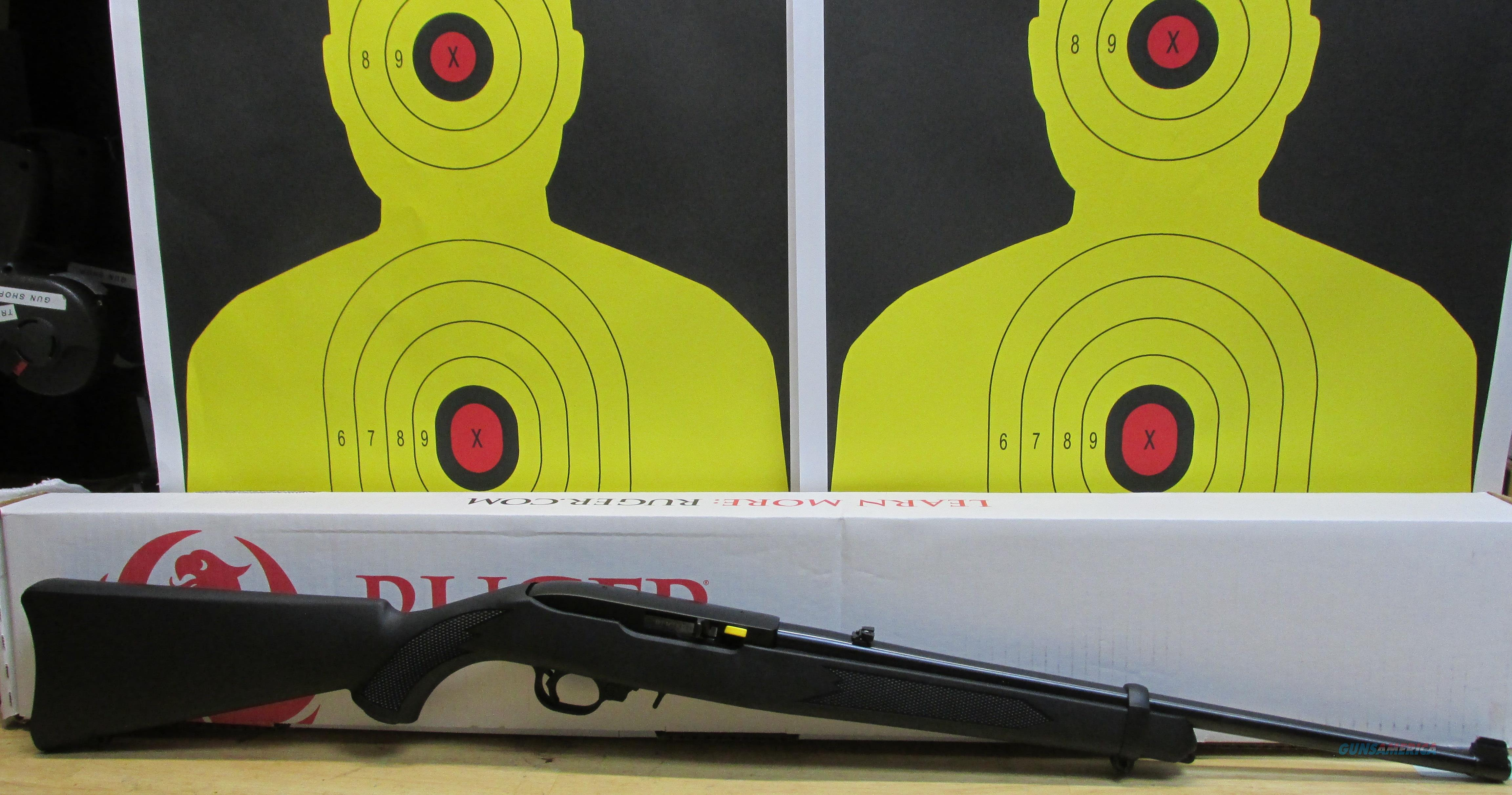"RUGER 10/22 .22LR RIFLE BLACK SYNTHETIC STOCK, 10 ROUND MAGAZINE, 18"" BARREL  Guns > Rifles > Ruger Rifles > 10-22"