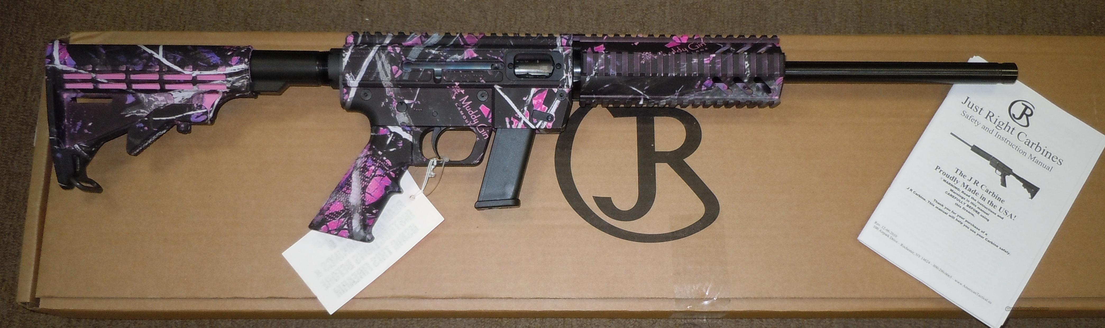 ATI JUST RIGHT CARBINES MUDDY GIRL CAMO 9MM AR STYLE CARBINE *USES GLOCK MAGS*  Guns > Rifles > AR-15 Rifles - Small Manufacturers > Complete Rifle