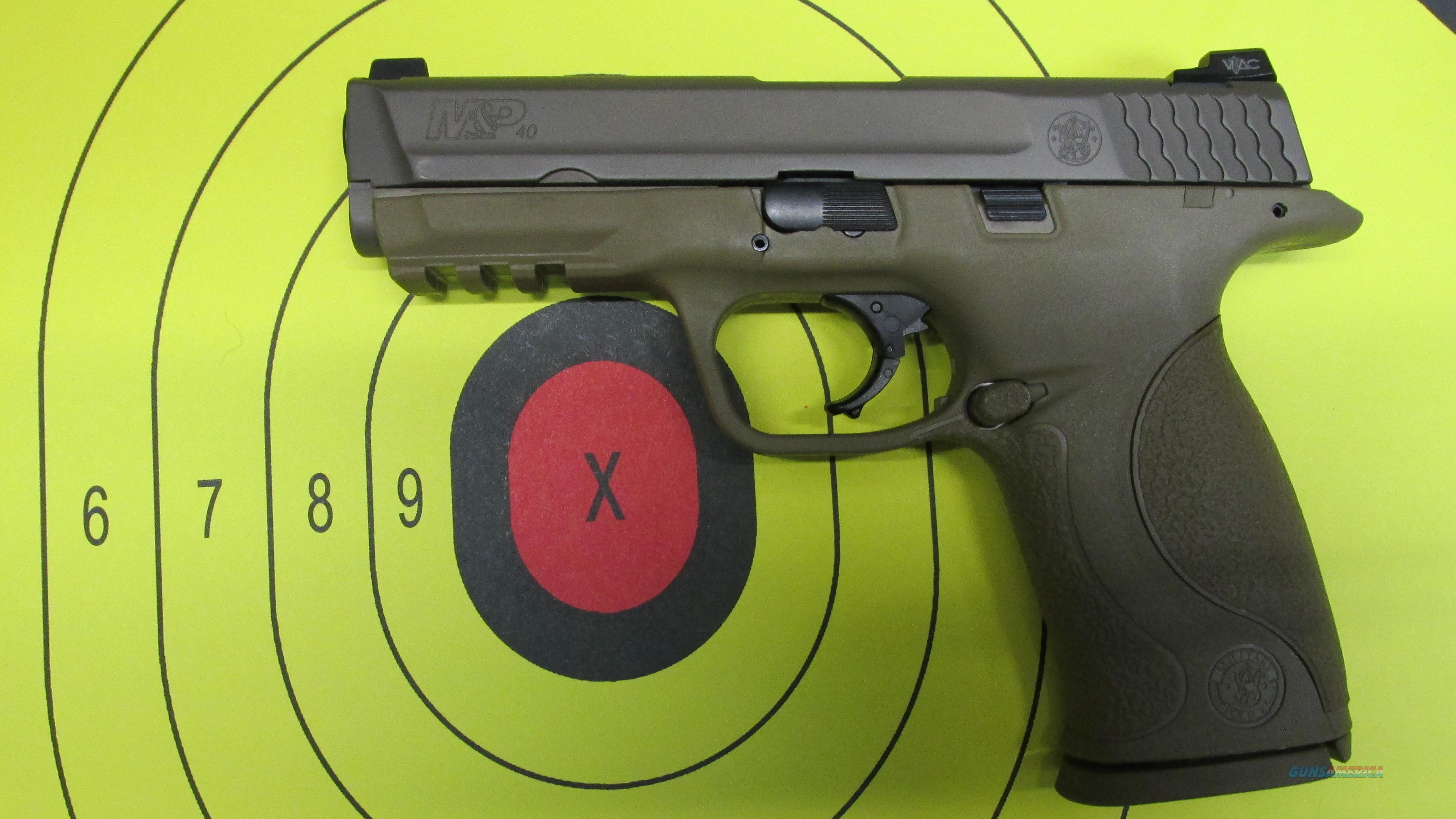 SMITH & WESSON M&P TAN VTAC 40 S&W PISTOL  Guns > Pistols > Smith & Wesson Pistols - Autos > Polymer Frame