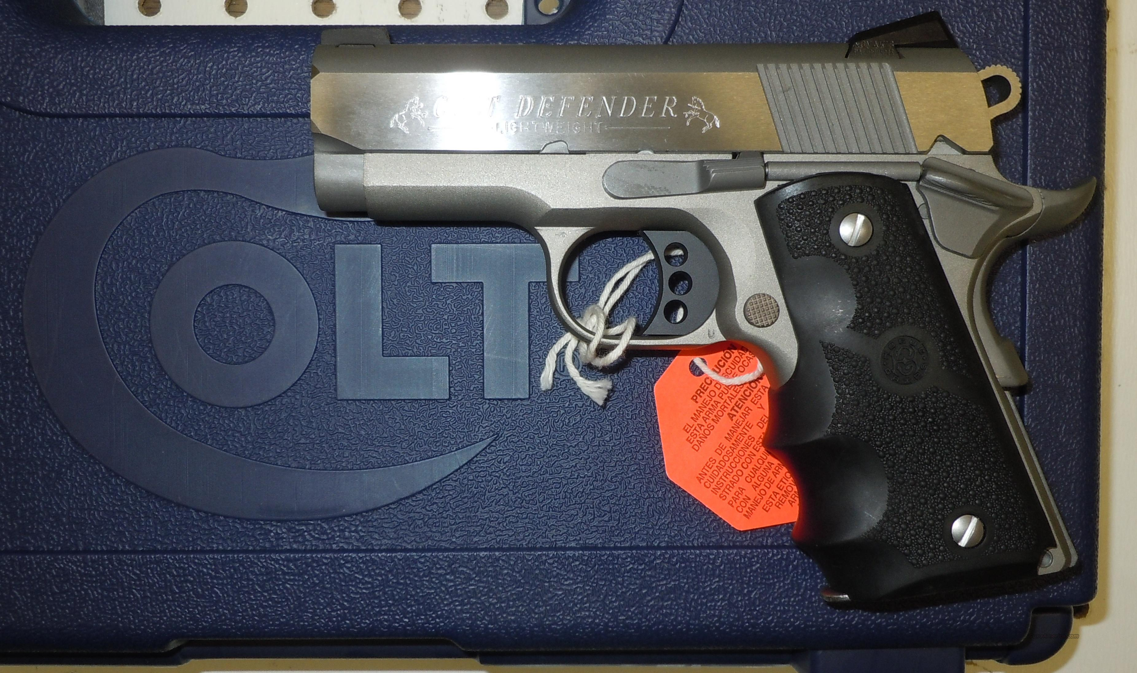 "COLT DEFENDER STAINLESS 9MM PISTOL ""100 YEARS OF SERVICE"" ROLLMARK (07002D)  Guns > Pistols > Colt Automatic Pistols (1911 & Var)"