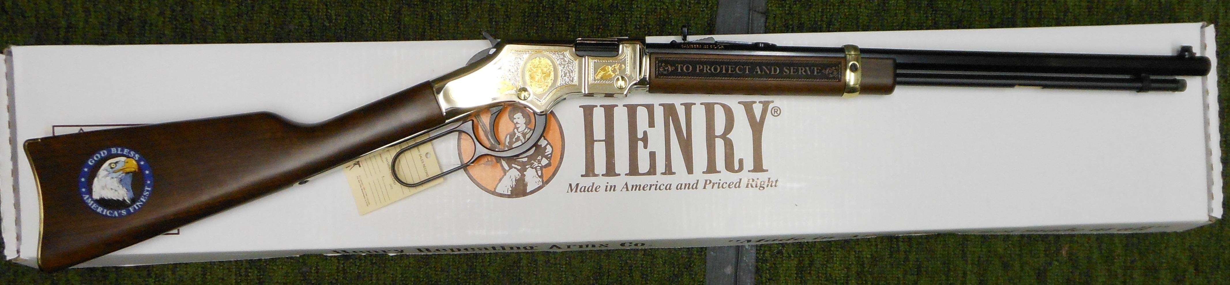 HENRY H004LE 22LR LEVER ACTION RIFLE *LAW ENFORCEMENT TRIBUTE EDITION *  Guns > Rifles > Henry Rifle Company