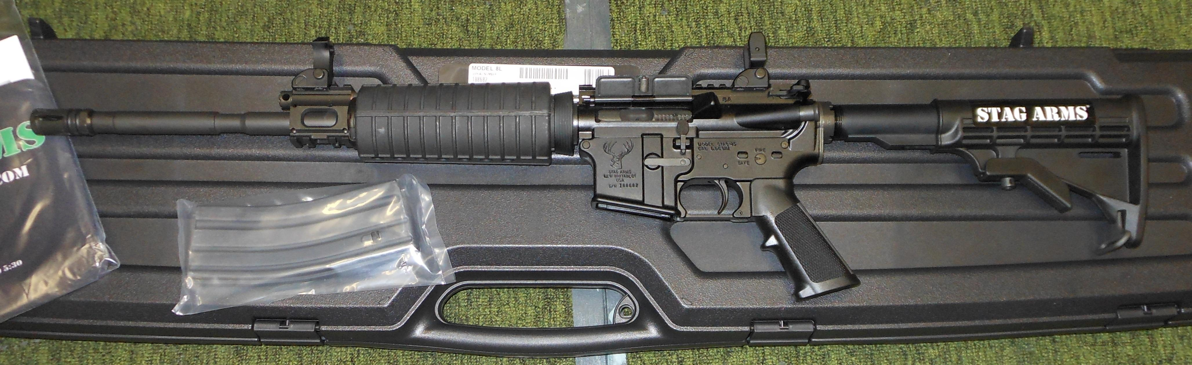 STAG 8L 5.56 NATO (223 REM) AR-15 RIFLE *PISTON, LEFT-HANDED*  Guns > Rifles > Stag Arms > Complete Rifles