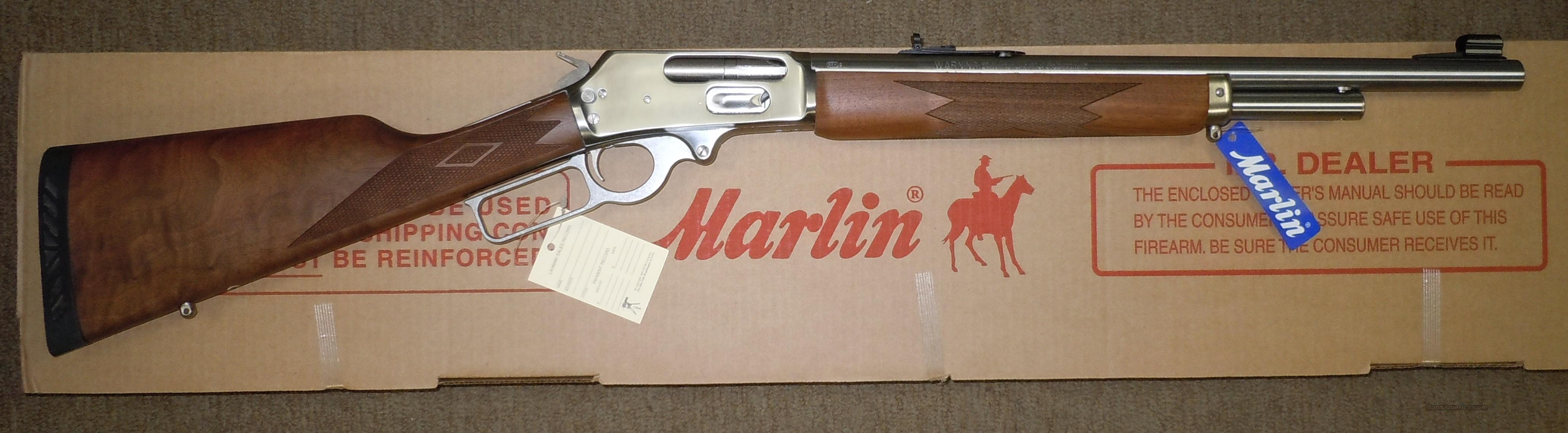 "MARLIN 1895GS 45/70 GOVERNMENT LEVER ACTION RIFLE STAINLESS STEEL, 18-1/2"" BARREL, CHECKERED WOOD STOCK  Guns > Rifles > Marlin Rifles > Modern > Lever Action"